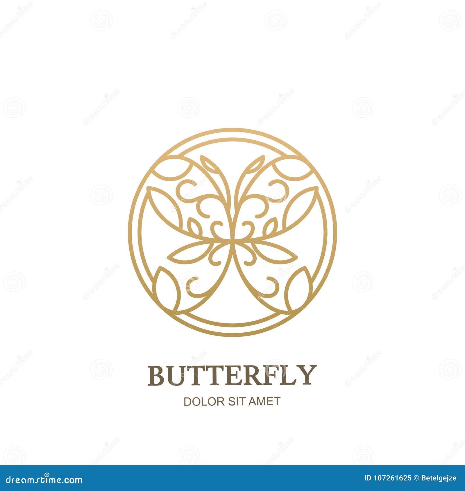 89489ba3ec8 ... de oro del estilo linear en forma del círculo Plantilla abstracta del  diseño moderno El concepto para la joyería de lujo, tienda de los accesorios  ...