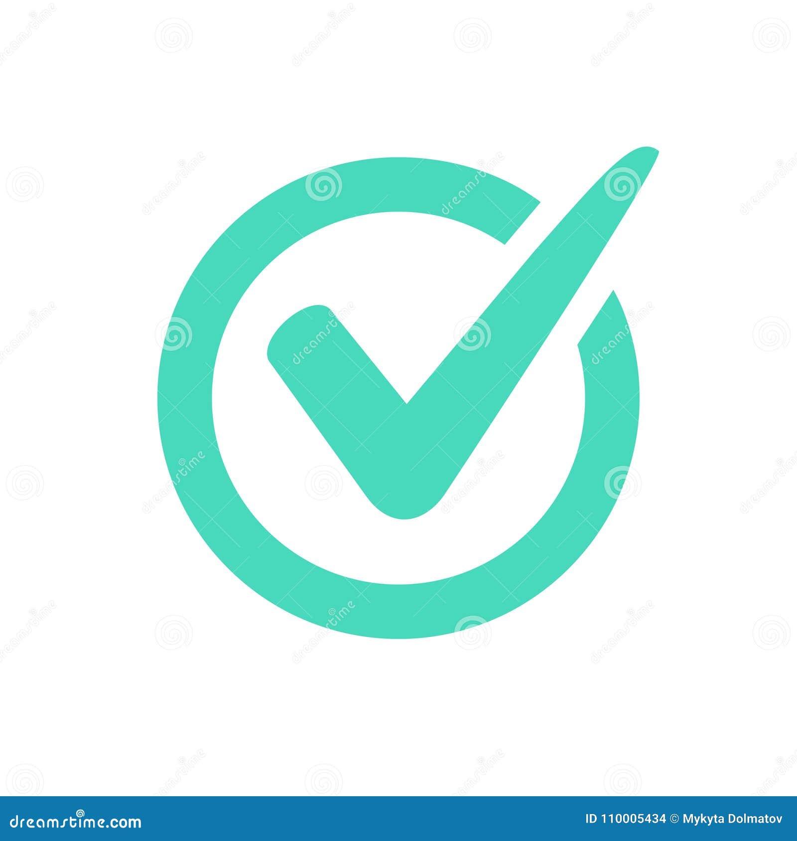 Logotipo o icono de la marca de verificación