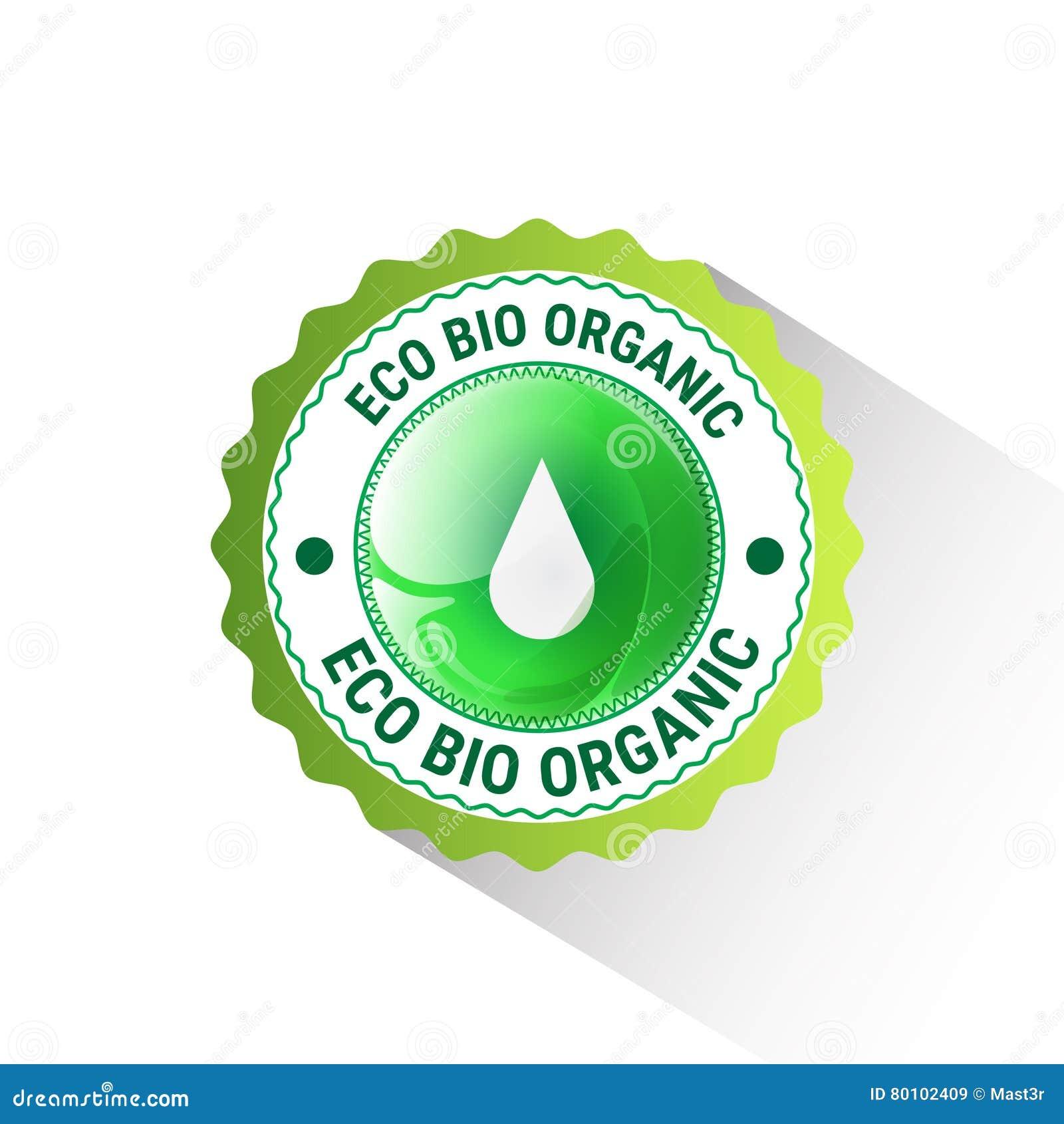 Logotipo orgânico amigável do verde do ícone da Web do produto natural de Eco