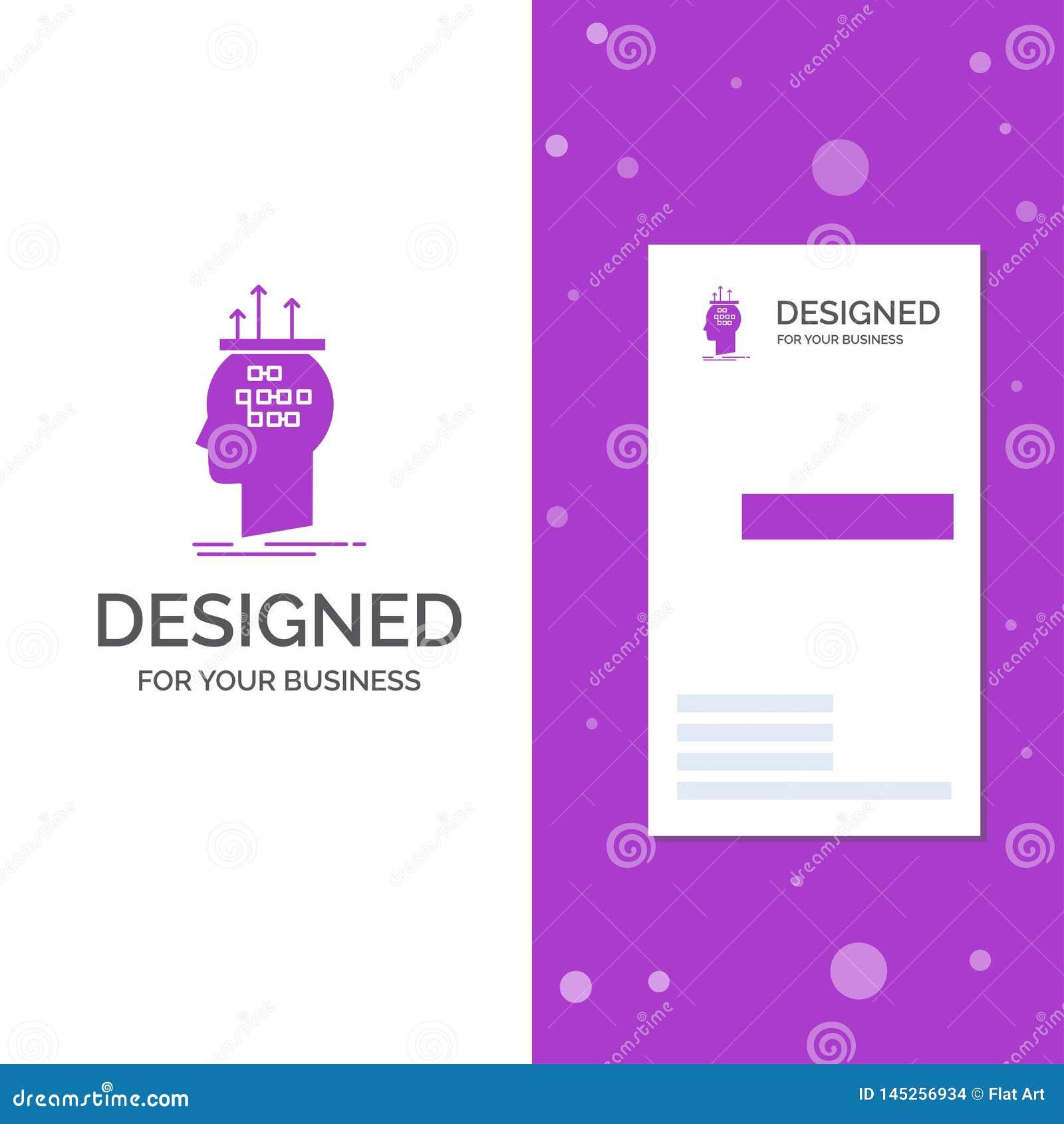 Logotipo para el algoritmo, cerebro, conclusi?n, proceso del negocio, pensando r creativo