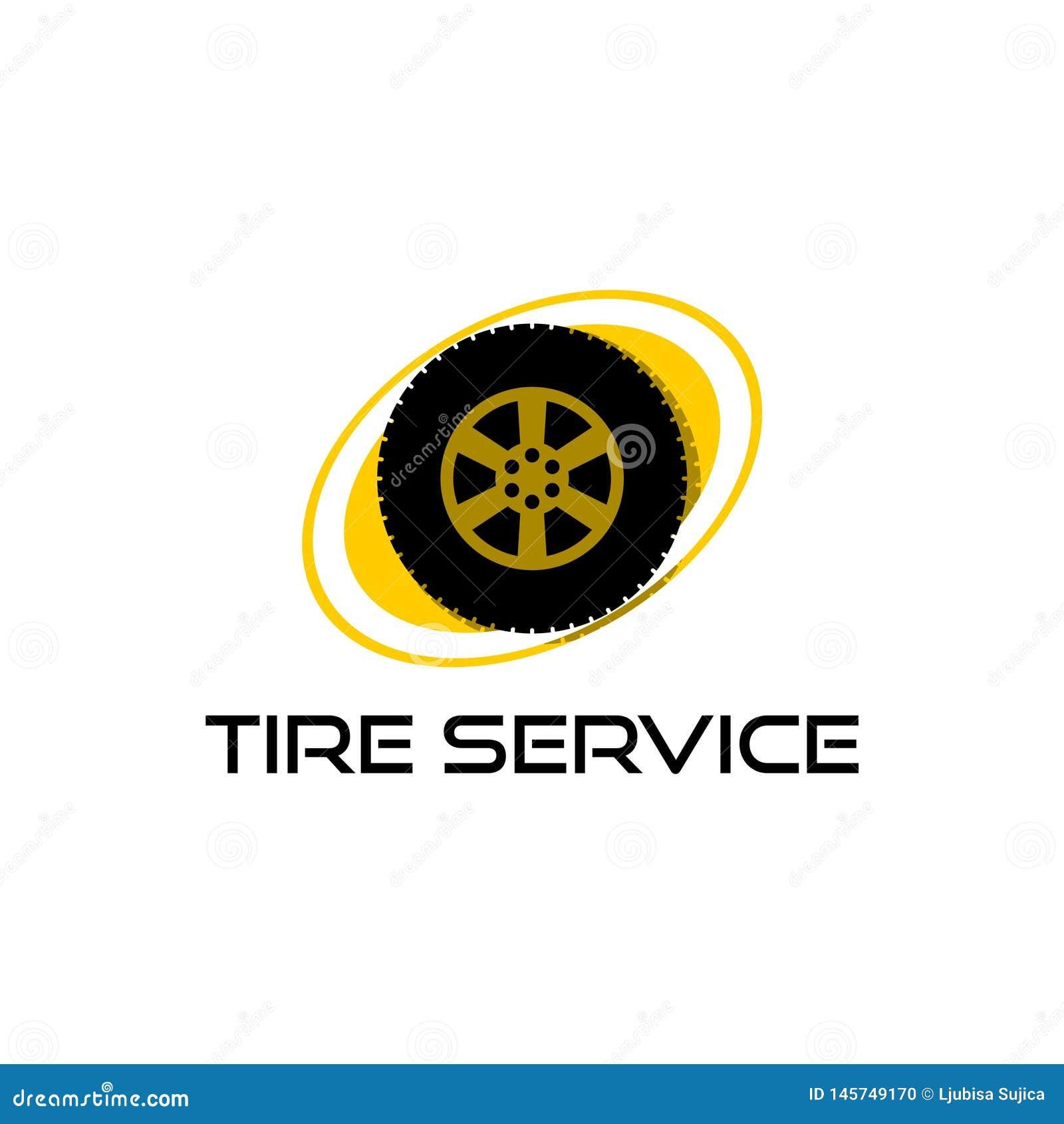 Logotipo para el servicio del neum?tico, icono del servicio del neum?tico