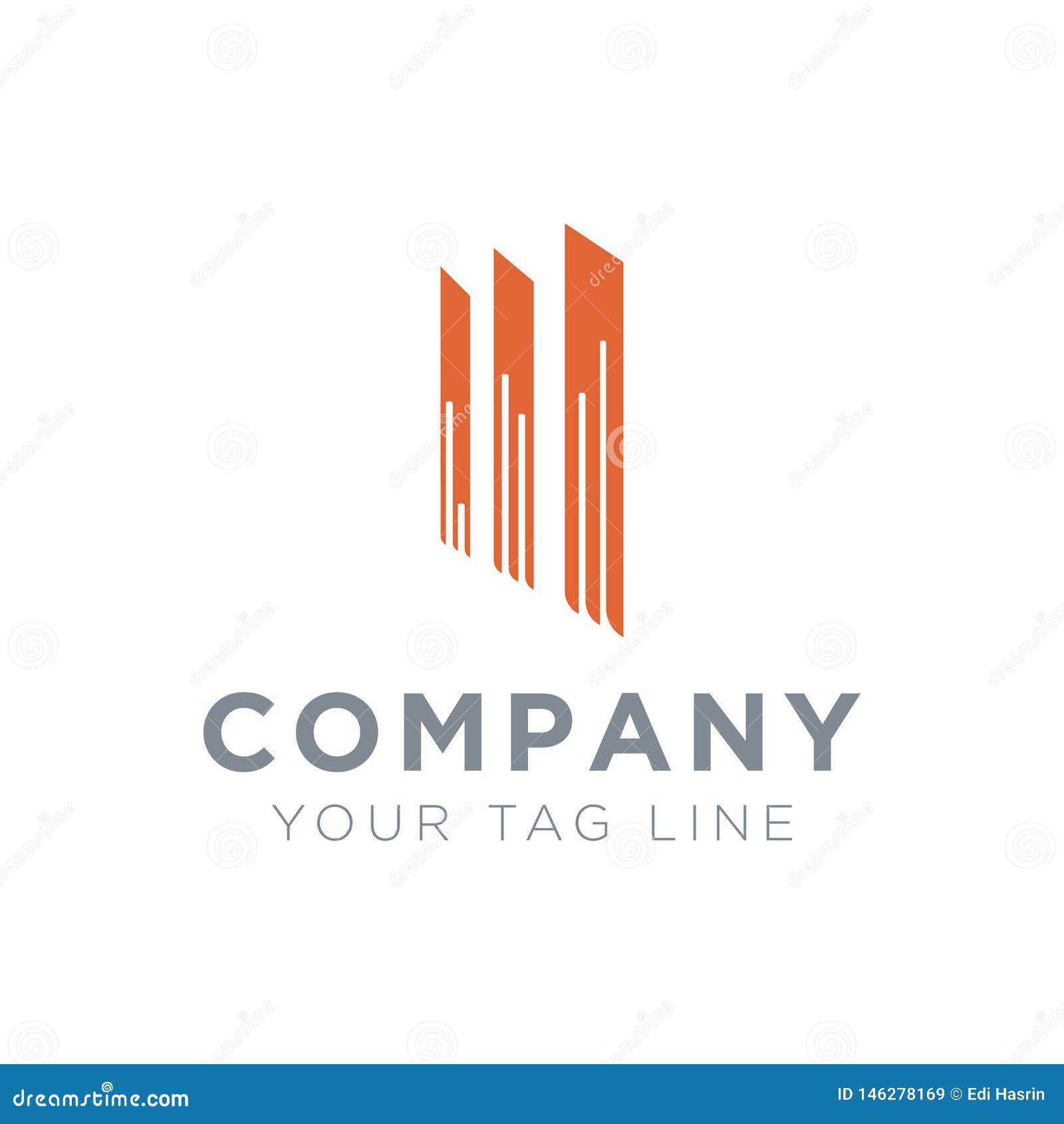 Logotipo para la propiedad del negocio con 3 polos permanentes
