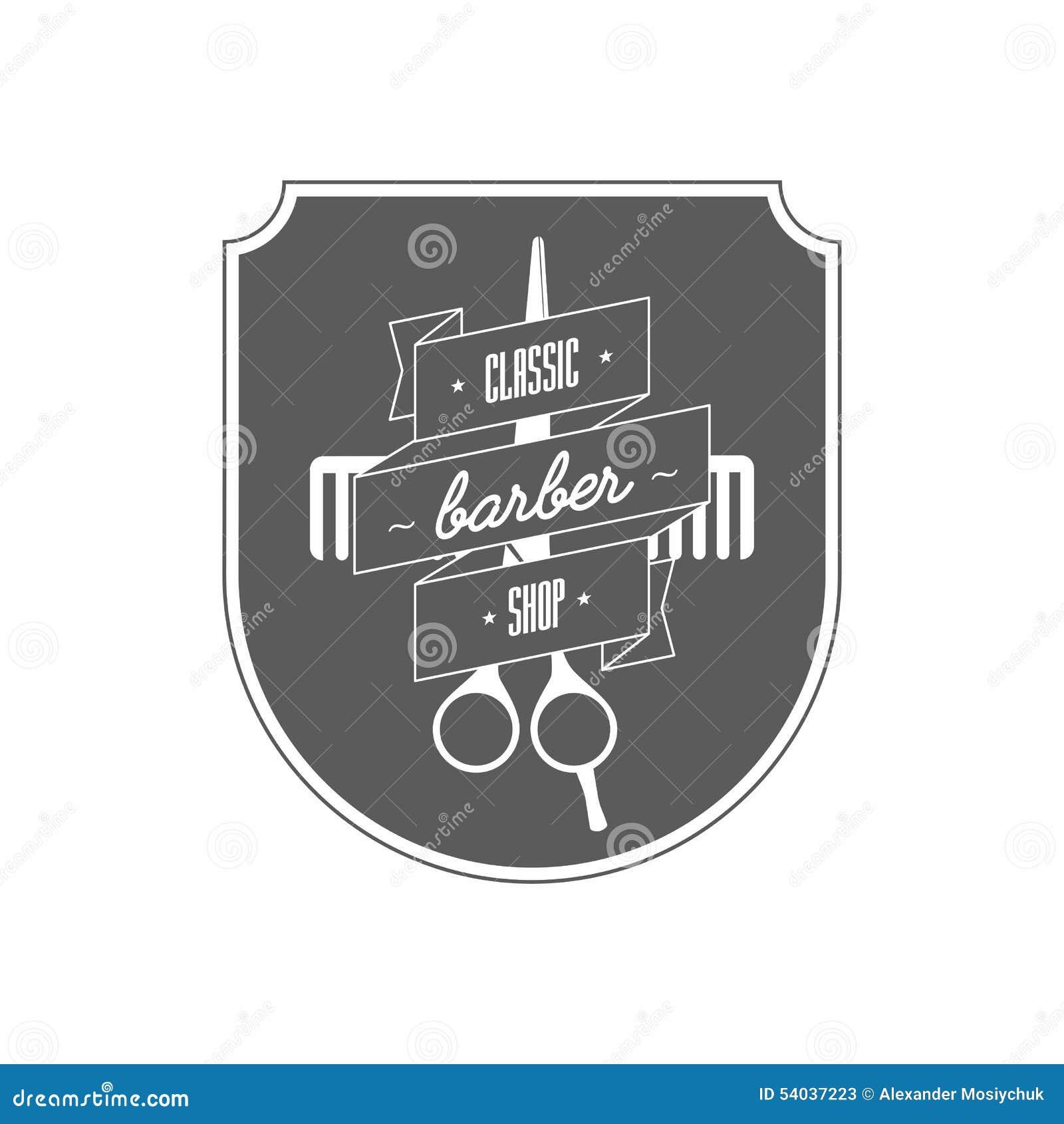 Conhecido Logotipo Para O Barbeiro Nele Tesouras E Pente Do Cabeleireiro  SF59