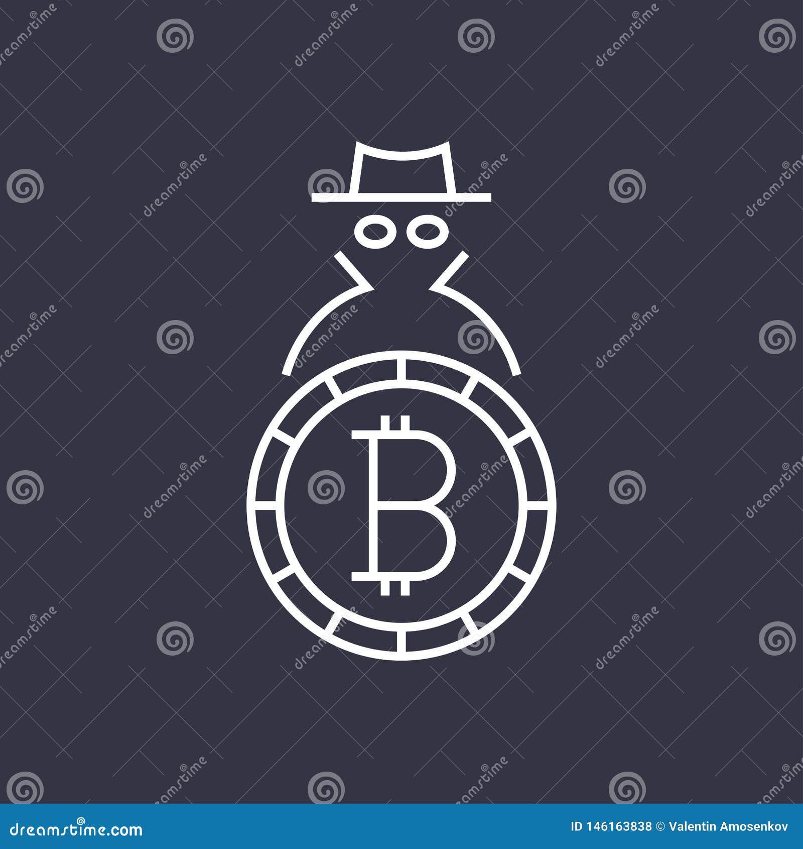 Logotipo plano del blockchain del cryptocurrency de Bitcoin Uso para los logotipos, productos de la impresi?n, p?gina y decoraci?