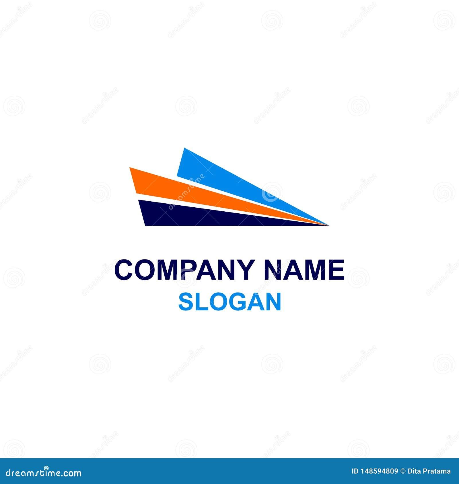 Logotipo plano del papel del extracto