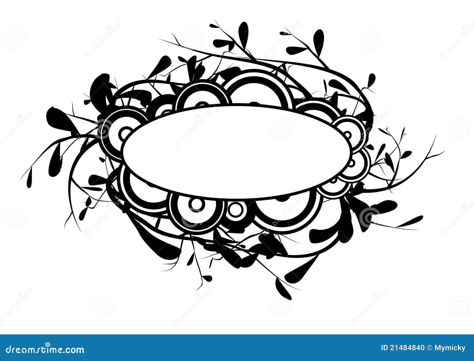 Amado Logotipo preto e branco ilustração stock. Ilustração de círculos  QR85