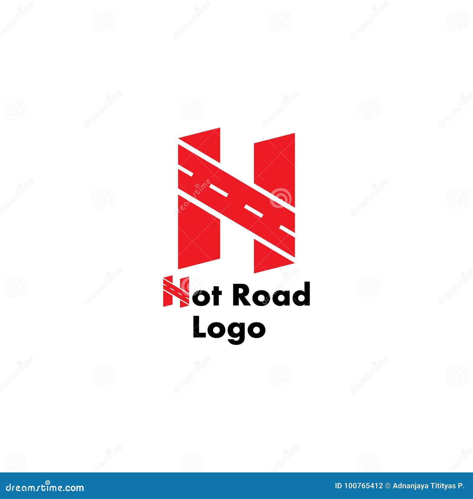 5405235ce Logotipo Quente Da Estrada Da Letra H Ilustração do Vetor ...