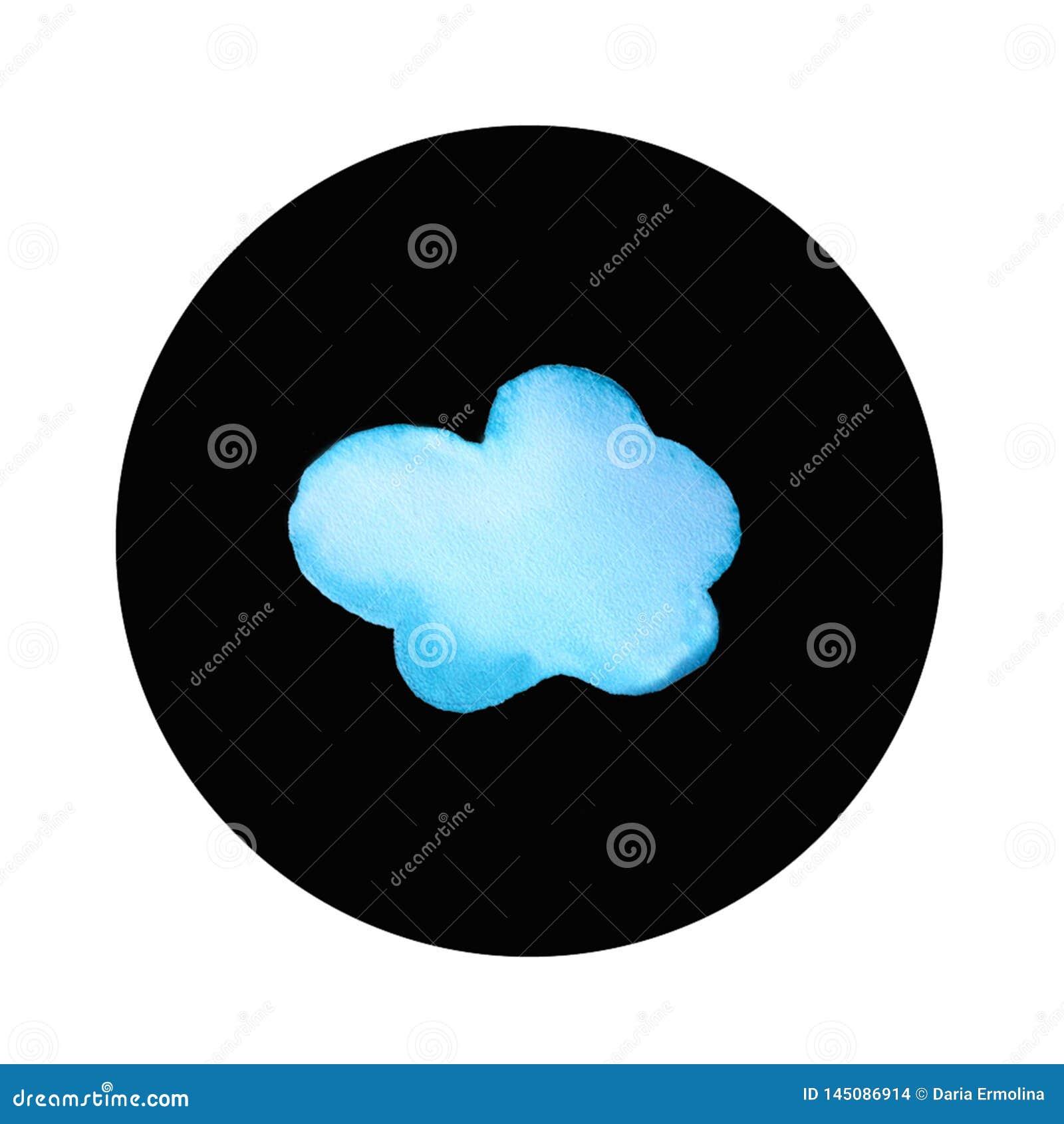 Logotipo redondo da nuvem
