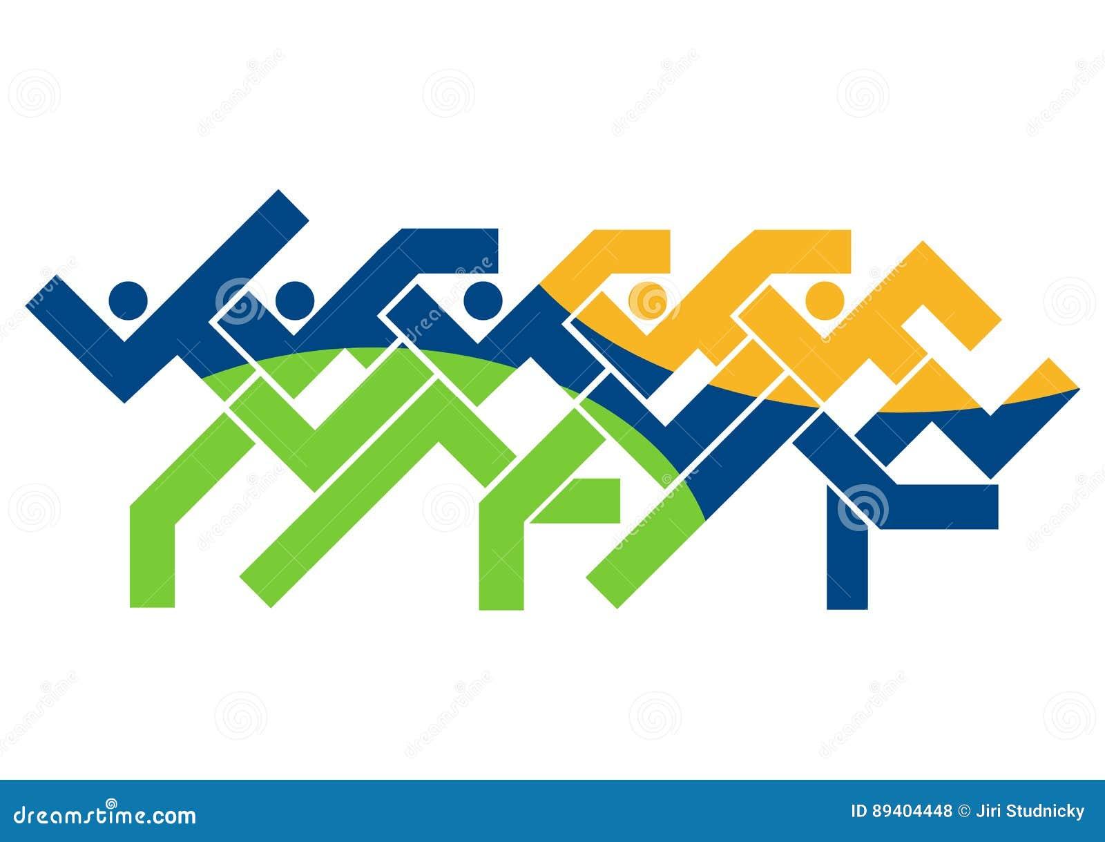 Logotipo running da raça