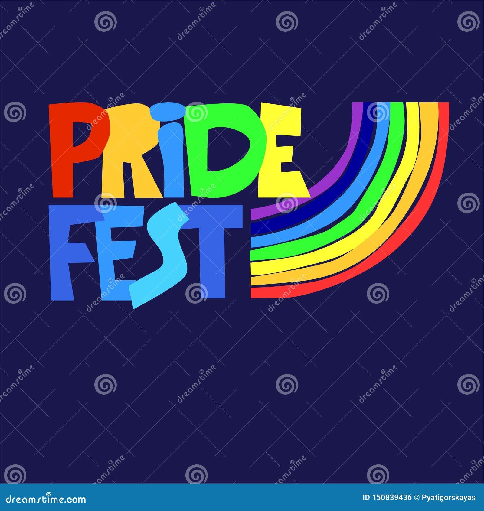 Logotipo sexual de las celebraciones de la diversidad Letras de la mano en colores del arco iris con la muestra del arco iris Las