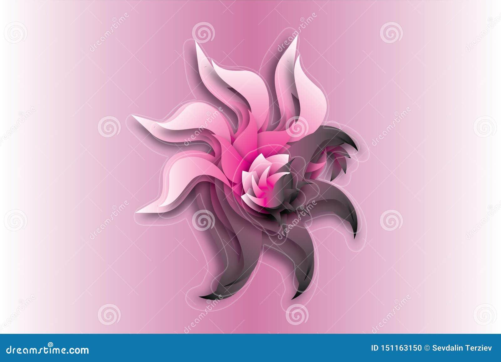 Logotipo simples da flor do sumário