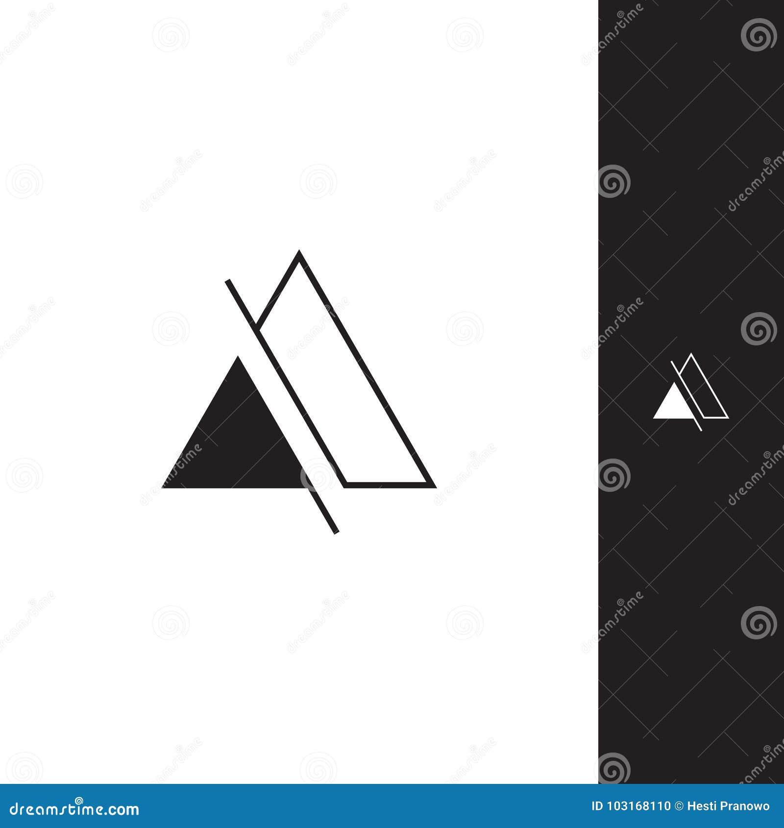 Logotipo simples do triângulo