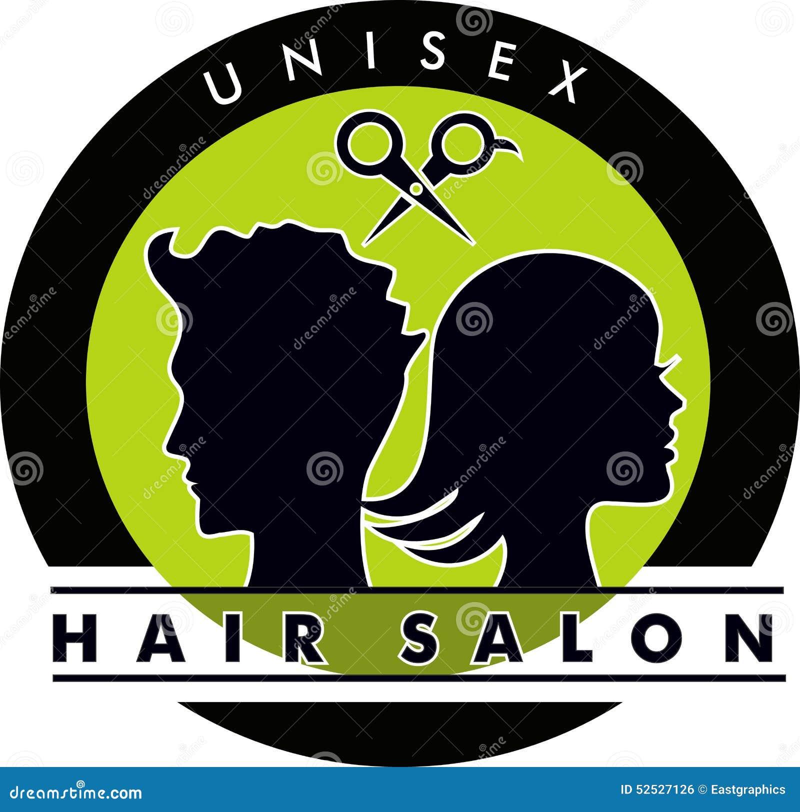 Muito Logotipo Unisex Do Cabeleireiro Ilustração do Vetor - Ilustração  KW28