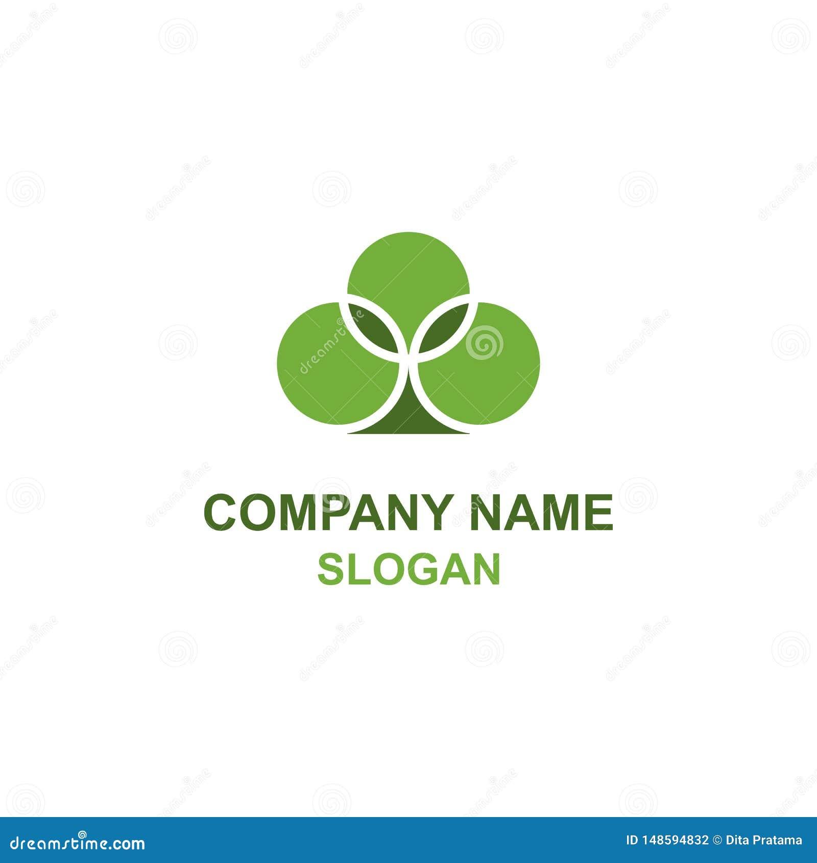 Logotipo verde de la planta de la espada