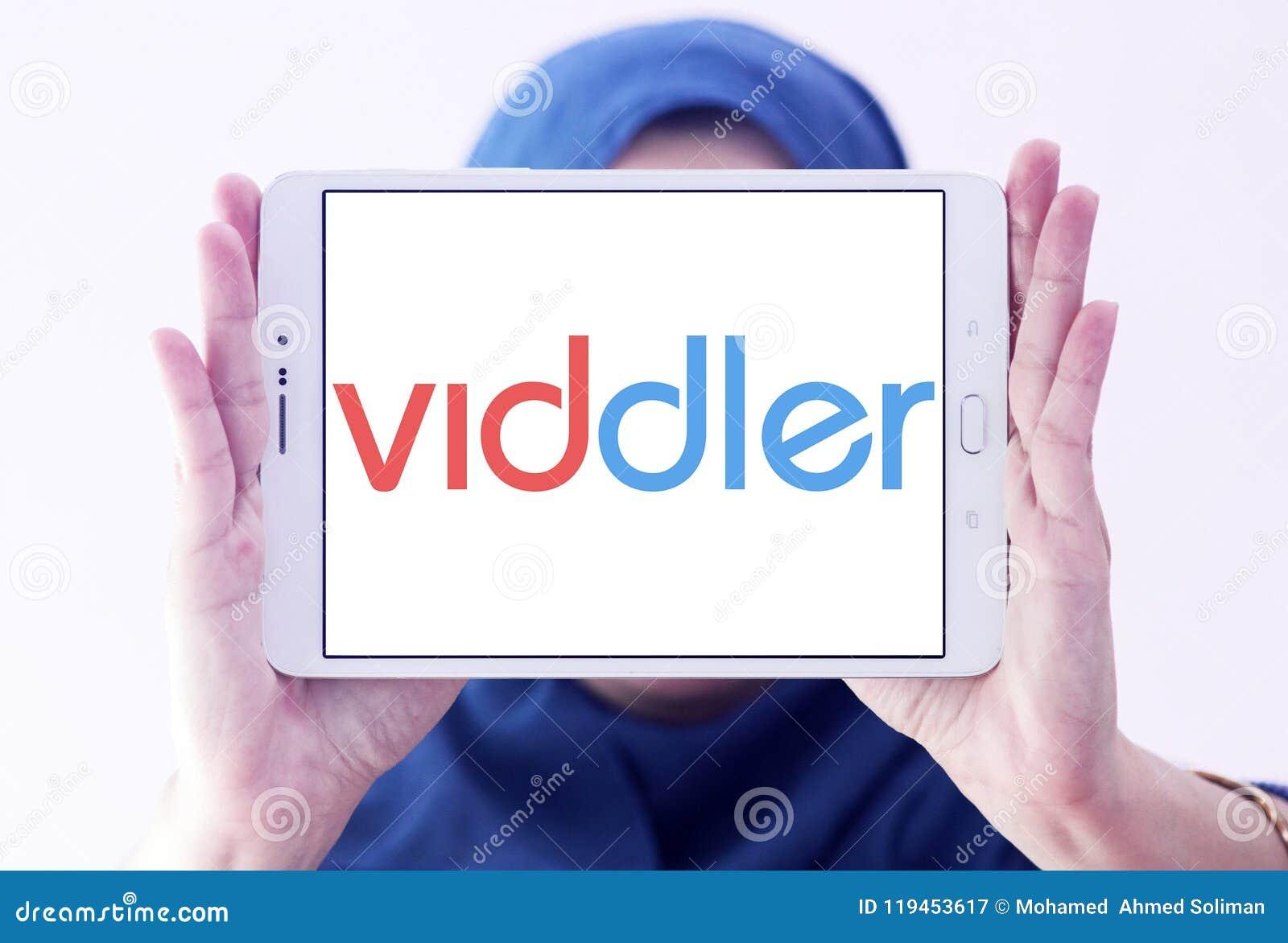 Logotipo video em linha do serviço de Viddler
