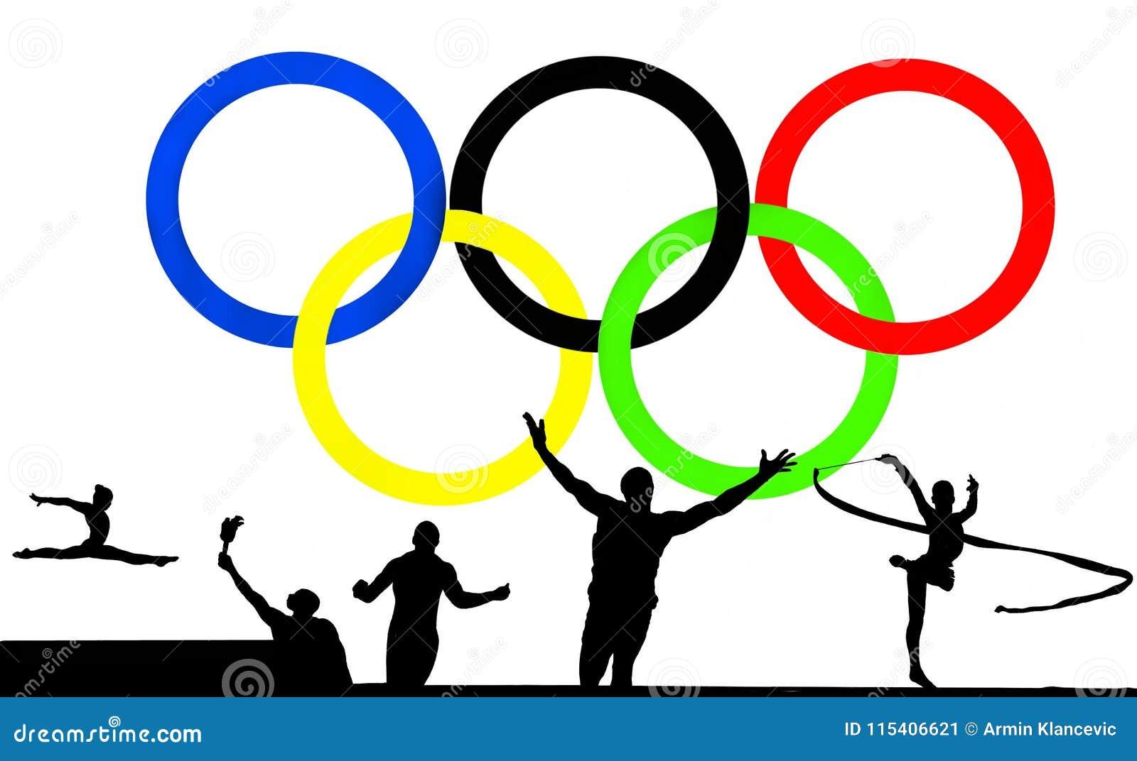 Logotipo Y Juegos Olimpicos Foto Editorial Ilustracion De Mano