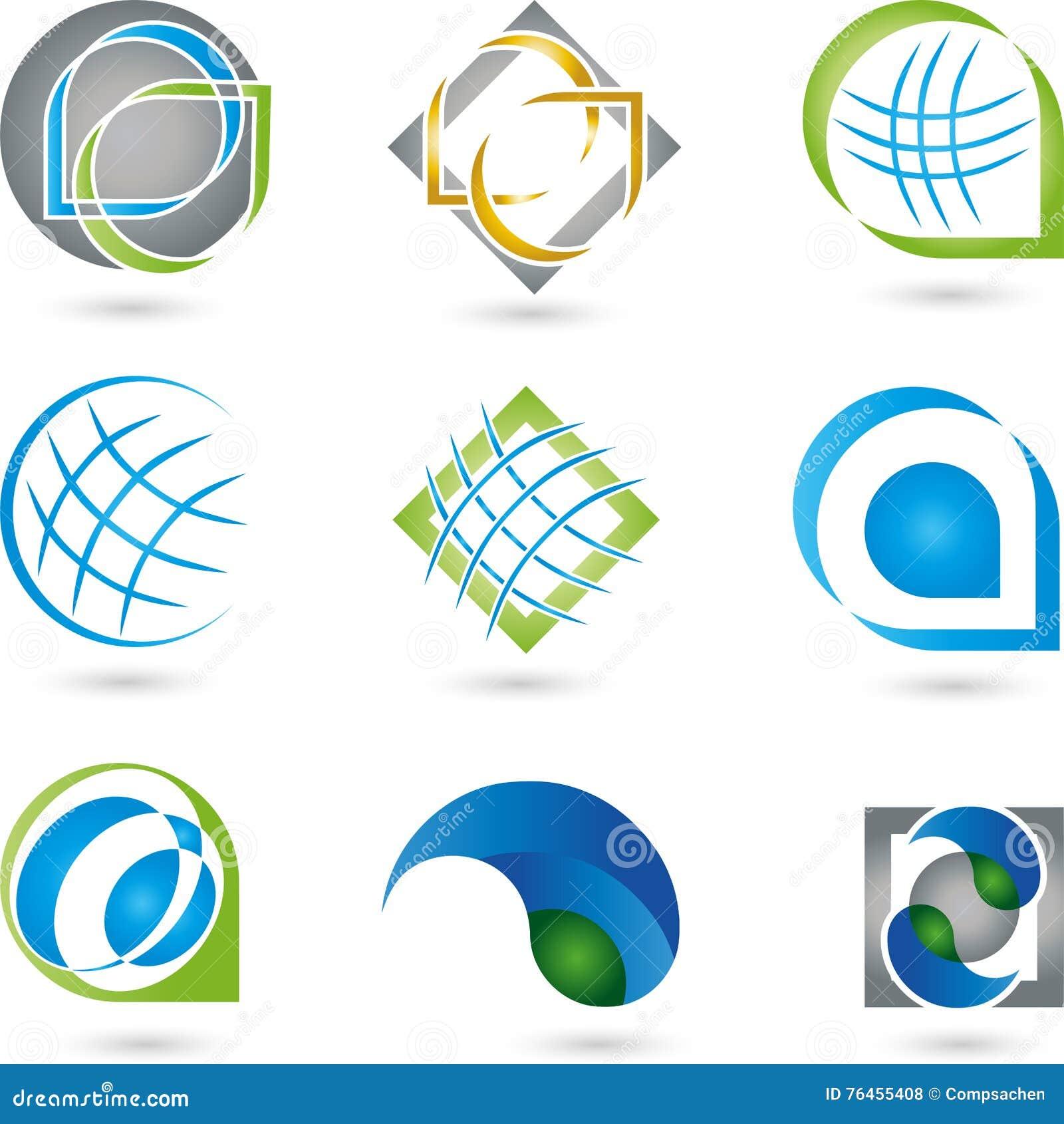 Circuito Y Servicios : Logotipos colección servicios las tic foto de archivo imagen