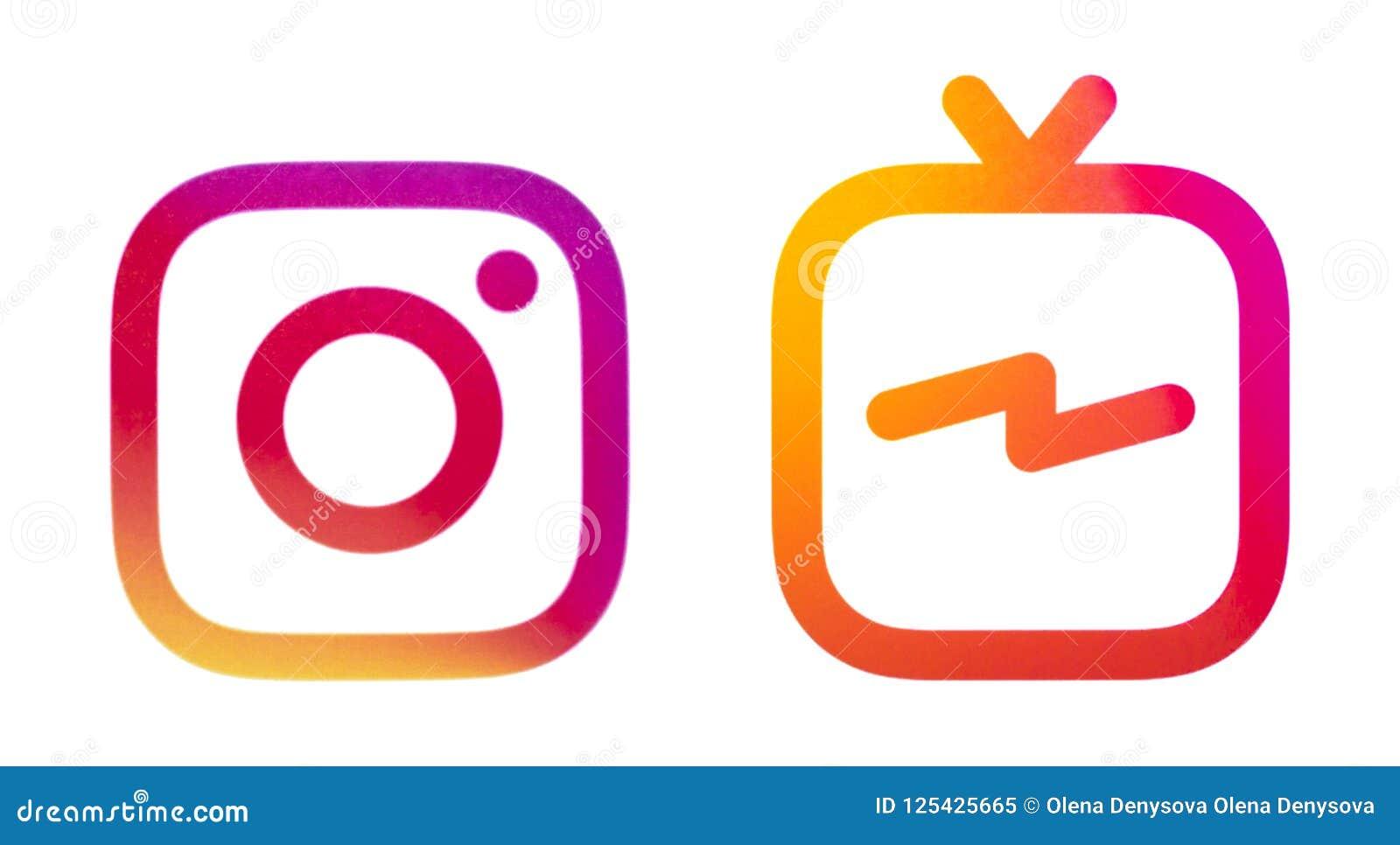 Logotipos de Instagram e de Instagram IGTV