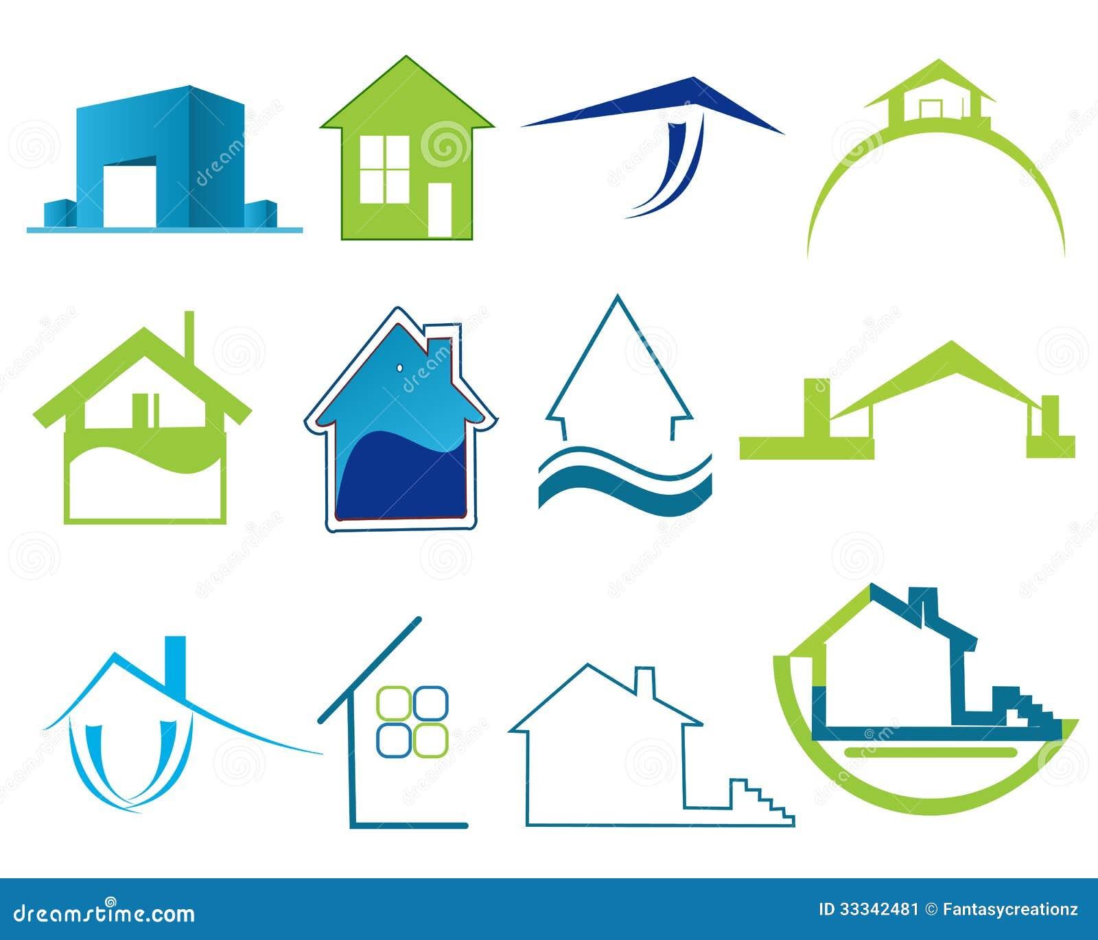 Logotipos De Las Propiedades Inmobiliarias Imagen De