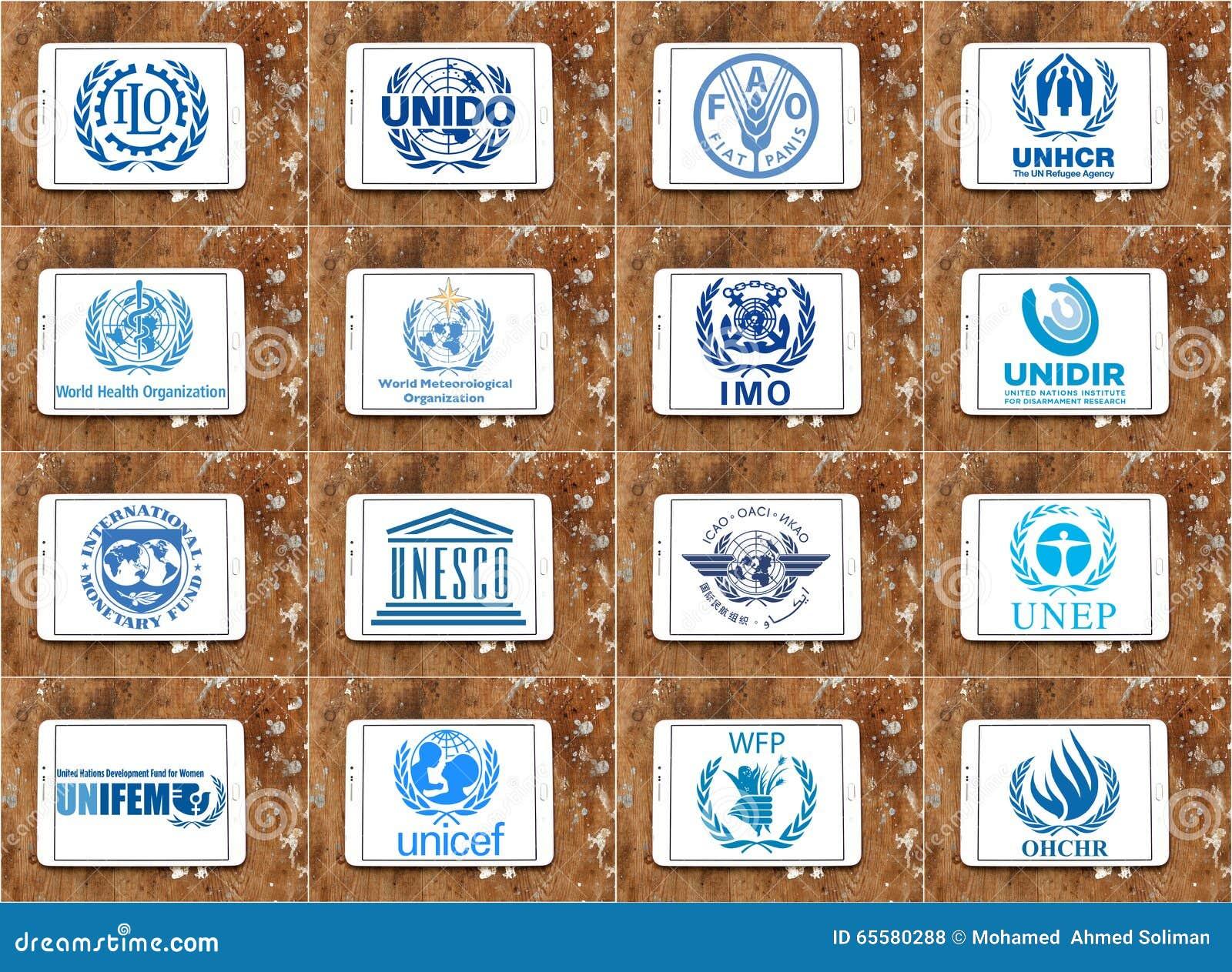 Logotipos e ícones das agências de United Nations