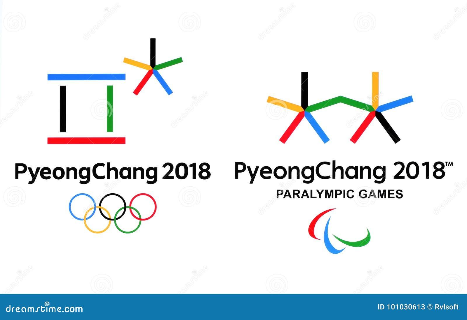 Logotipos Oficiales De Los Juegos 2018 De Olimpiada De Invierno En