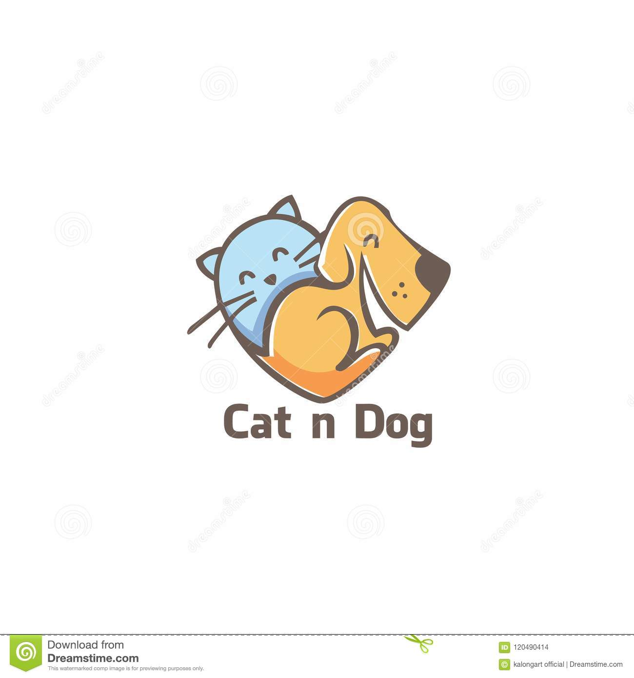 Cat and dog logo, icon vector ilustration .template. vector. editable.