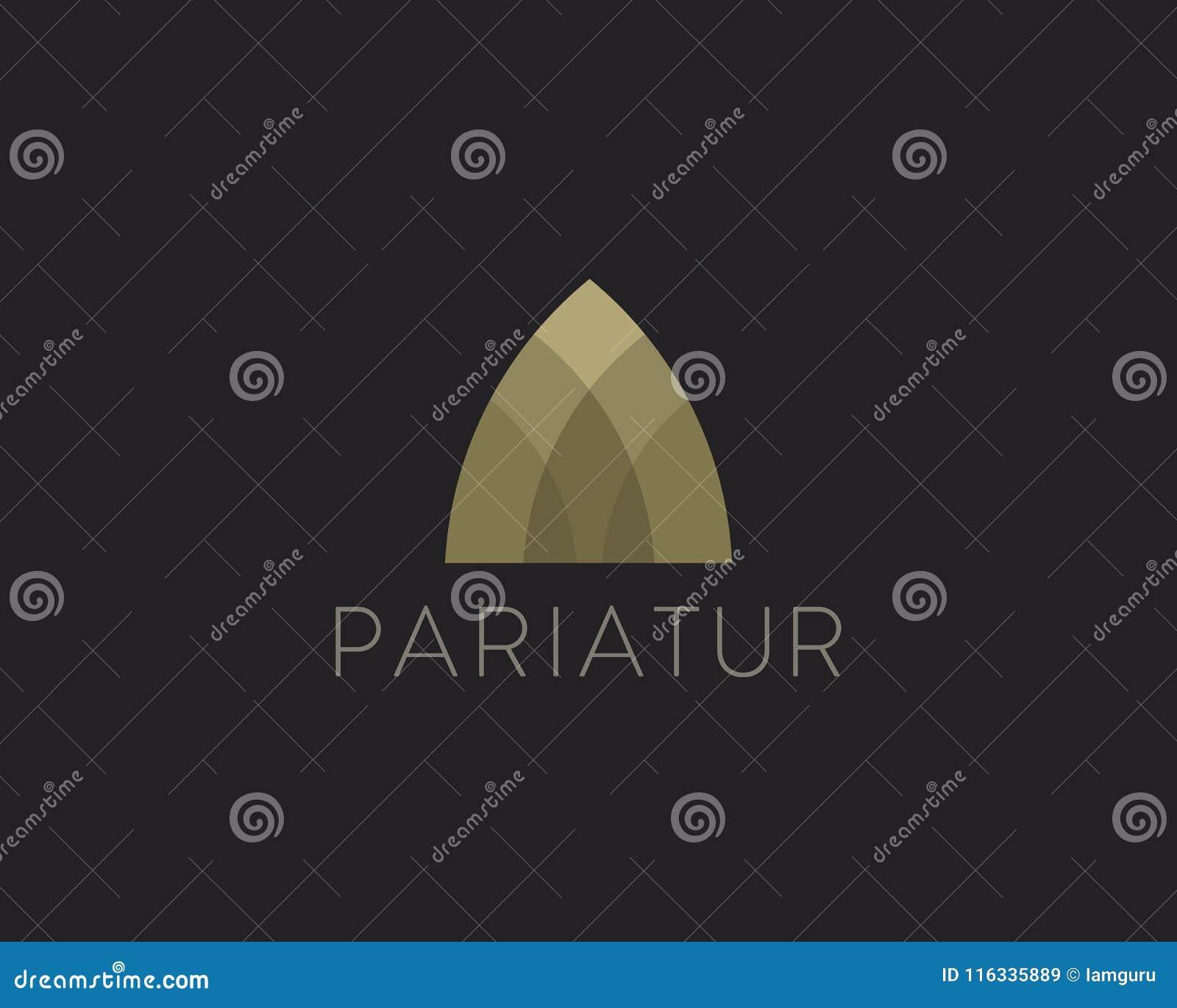 Logotype premio di idea di finanza del bene immobile Arco universale di colore, appartamento, casa, logo domestico