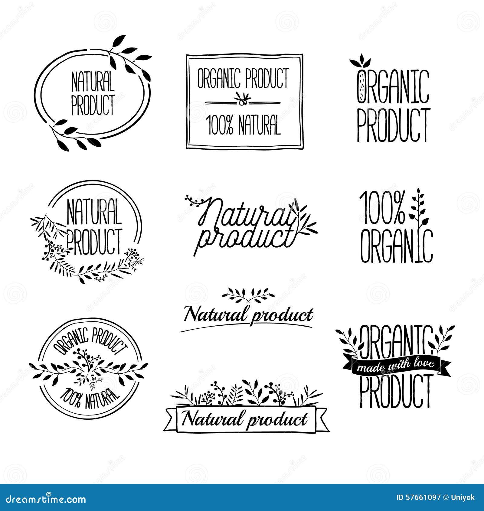 Logotypy ustawiający Odznaki, etykietki, faborki, rośliny