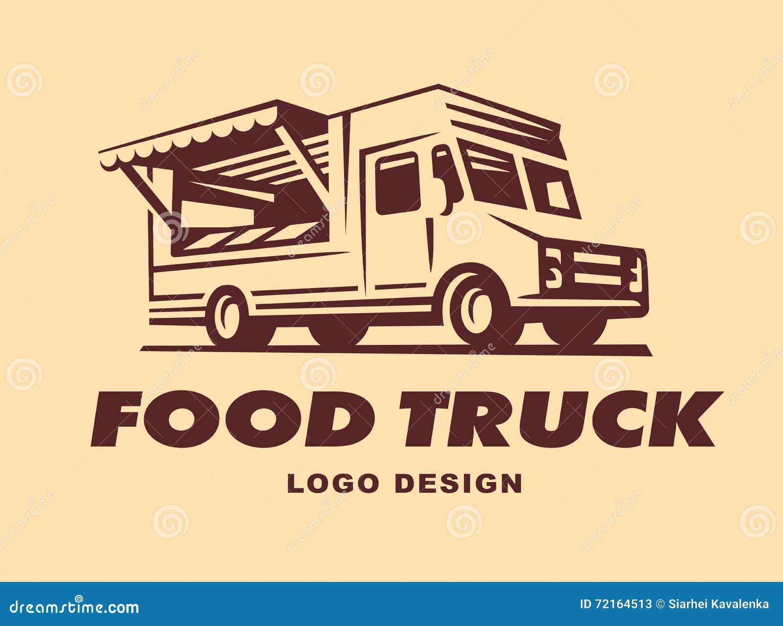 Logowie jedzenie ciężarówka