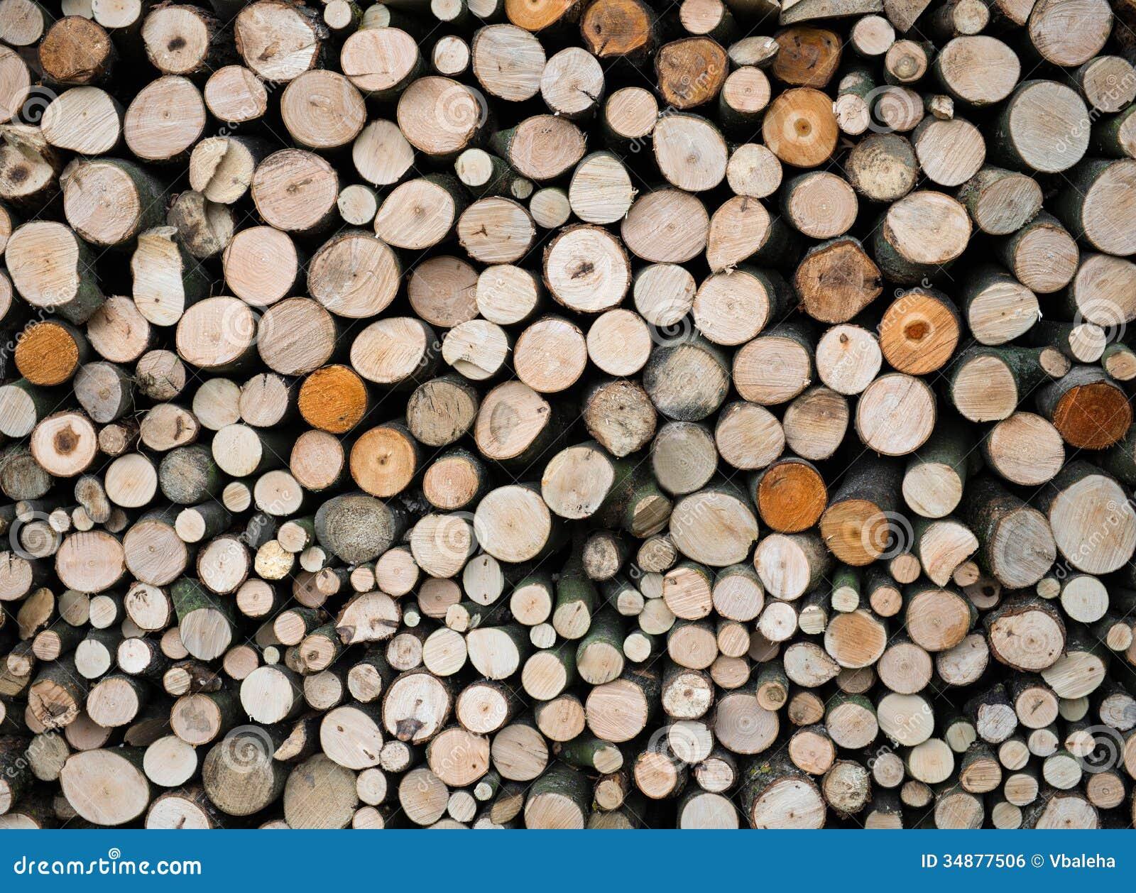 Logs de madeira