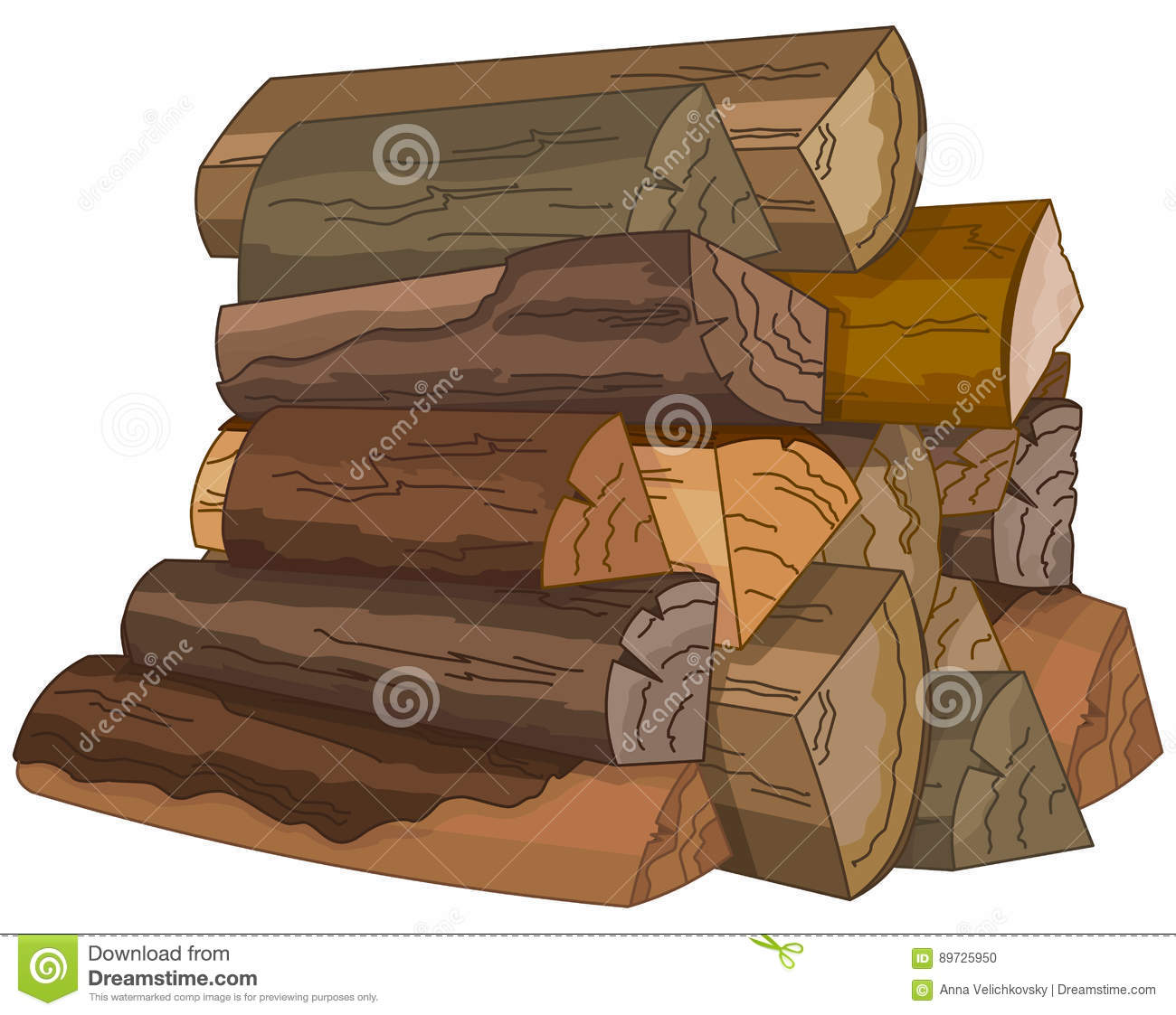 The Logs of Fire Wood