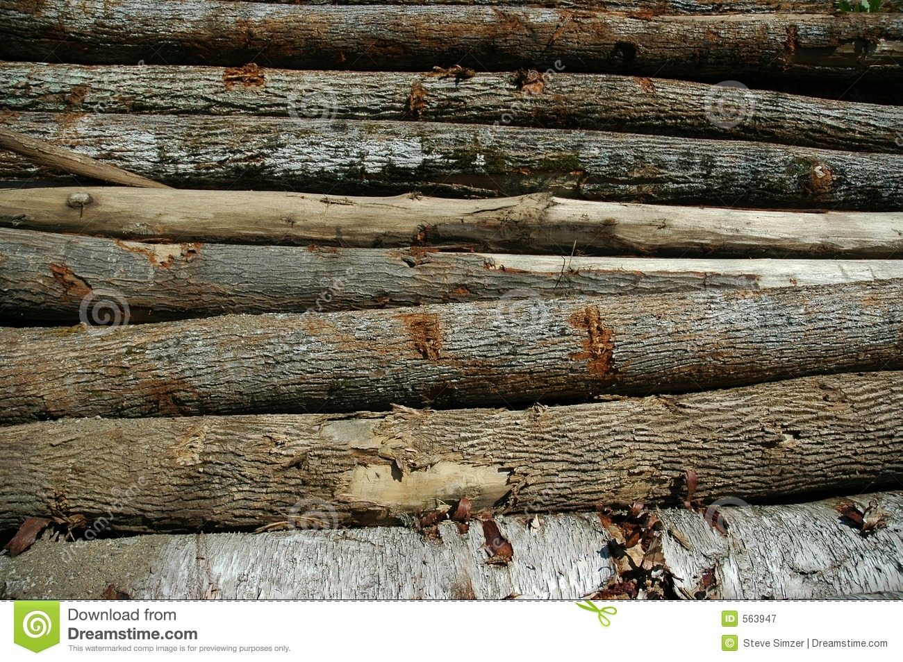 Logs horizontal royalty free stock photography image 563947 for Tree log