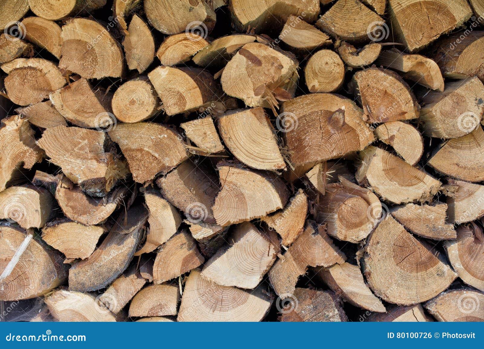 Logs ou pilhas da lenha
