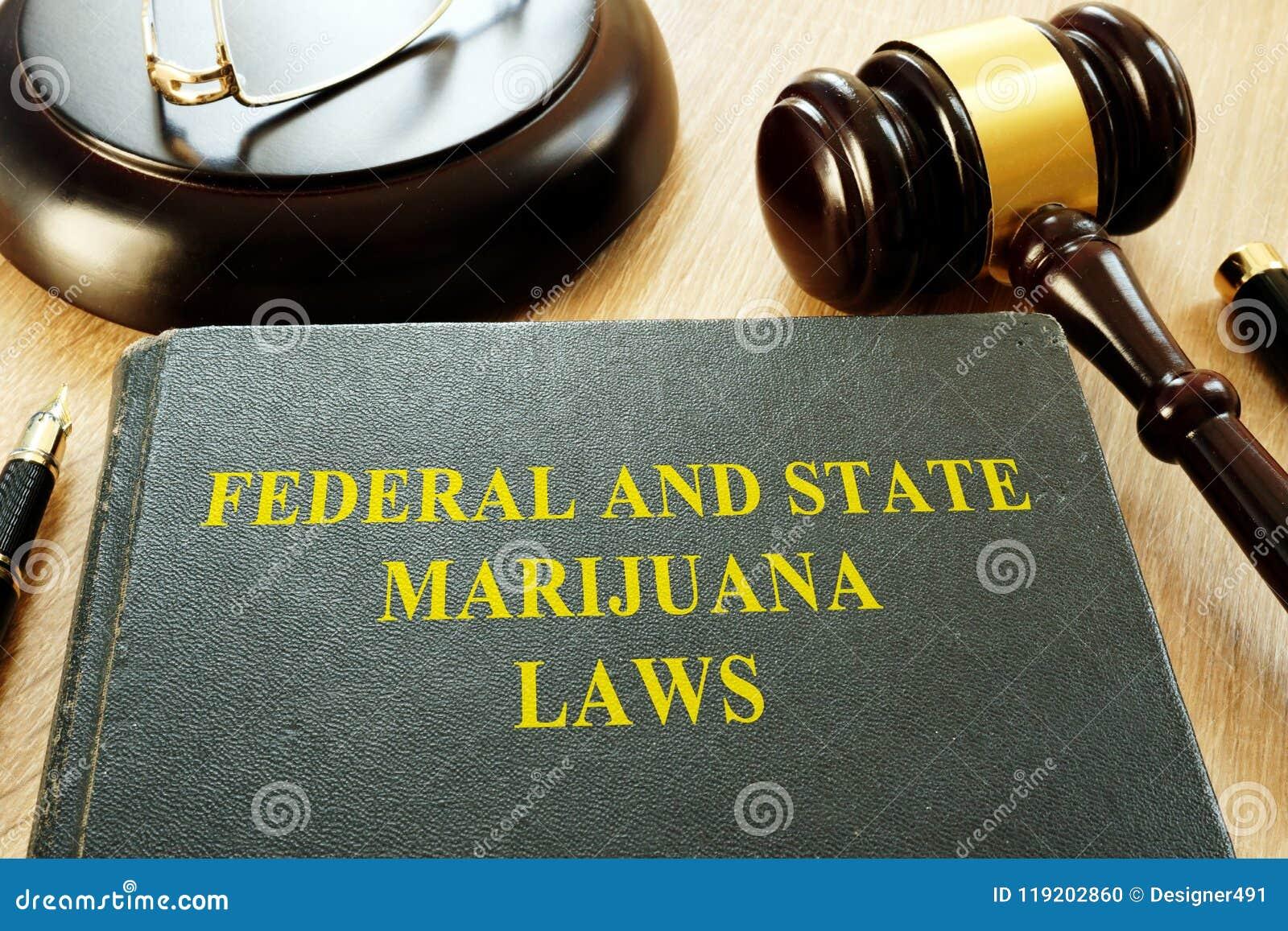 Lois et marteau fédéraux et d état de marijuana