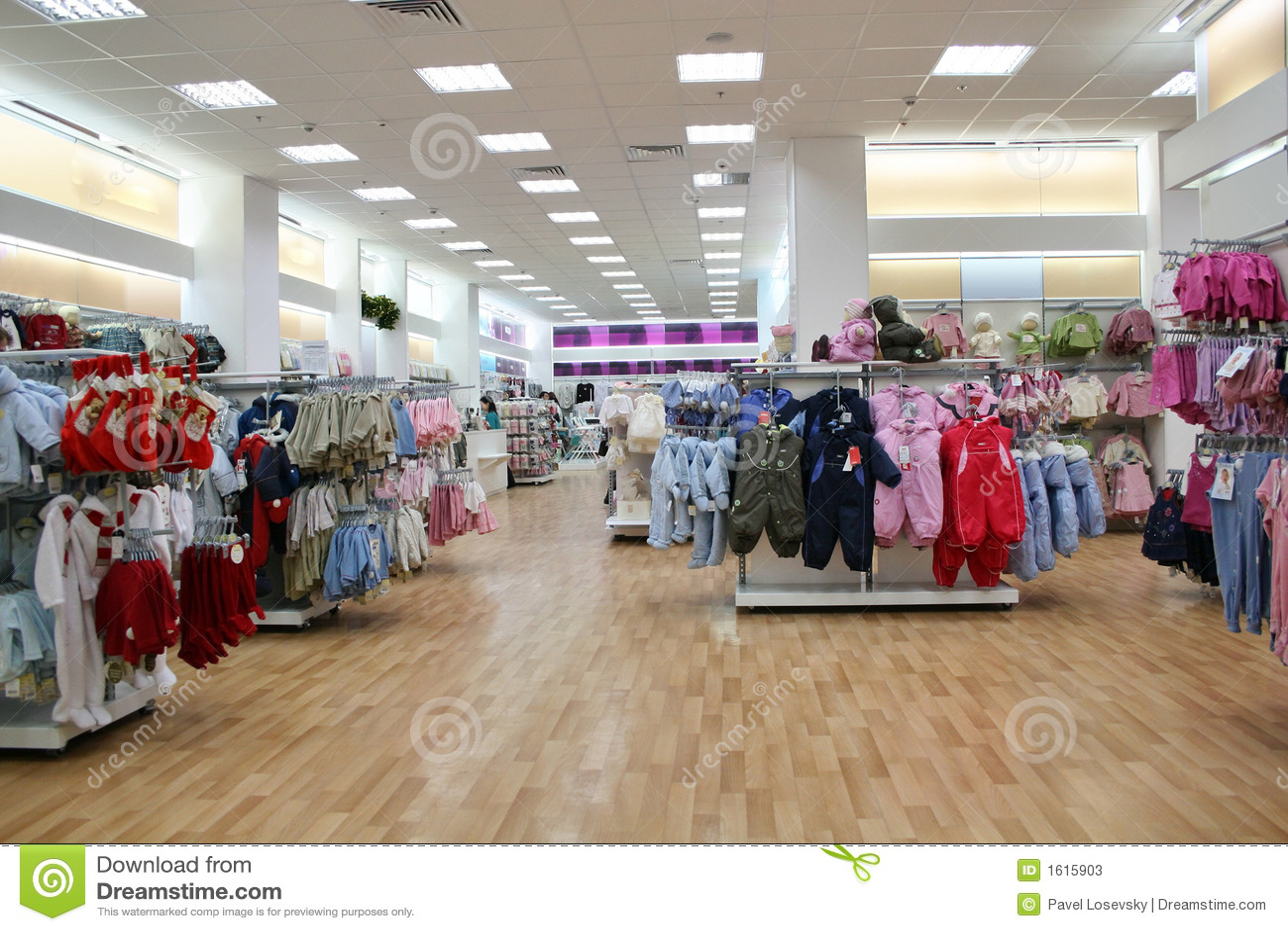 Loja da roupa da criança