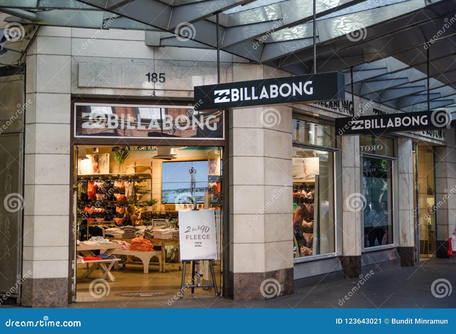 Loja de Billabong um varejista de roupa que igualmente produza acessórios 95dec6ef5bc