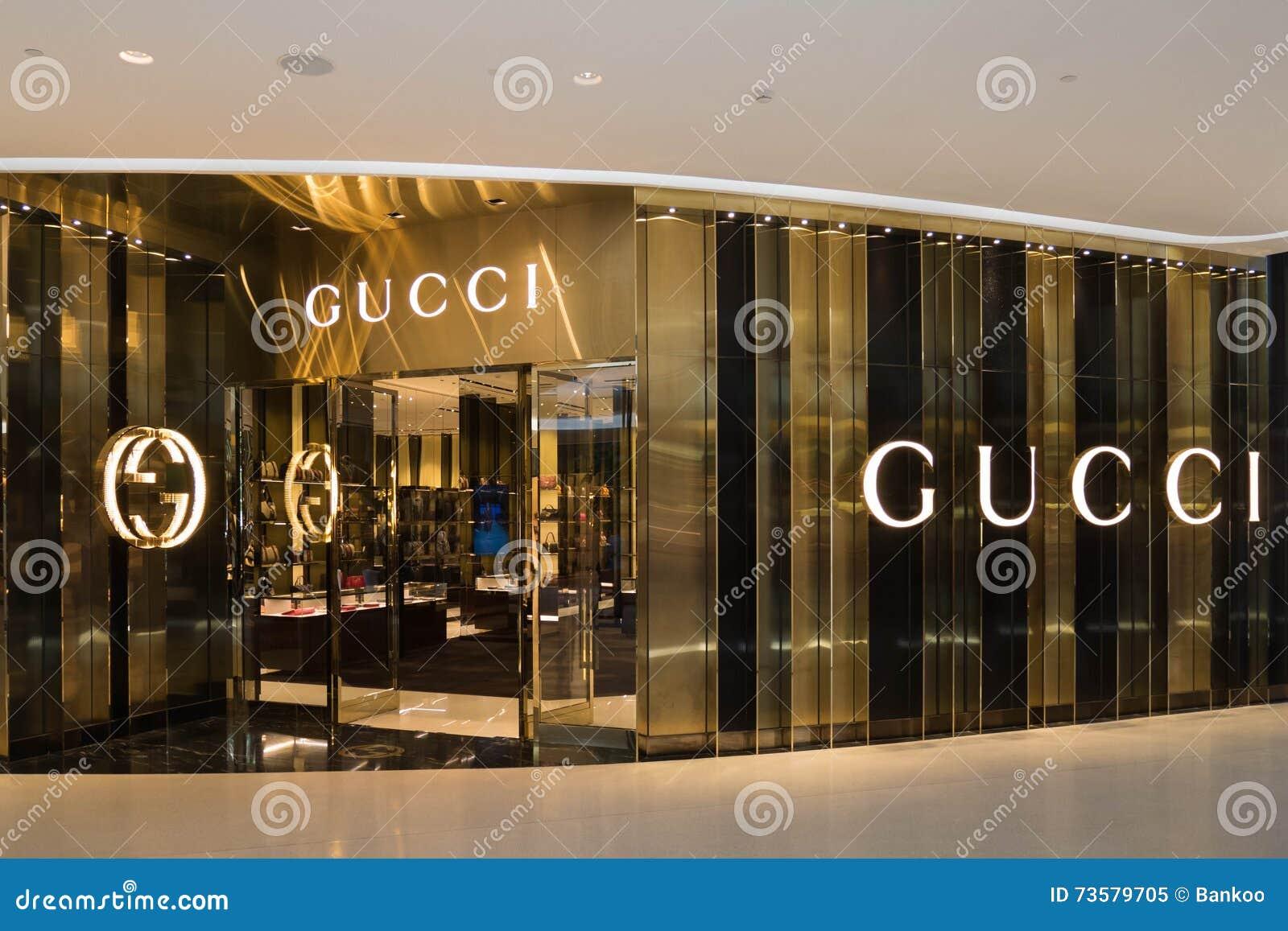 fa5033fc8d666 Loja De GUCCI No Shopping Luxuoso Da Embaixada Central Dentro Na ...