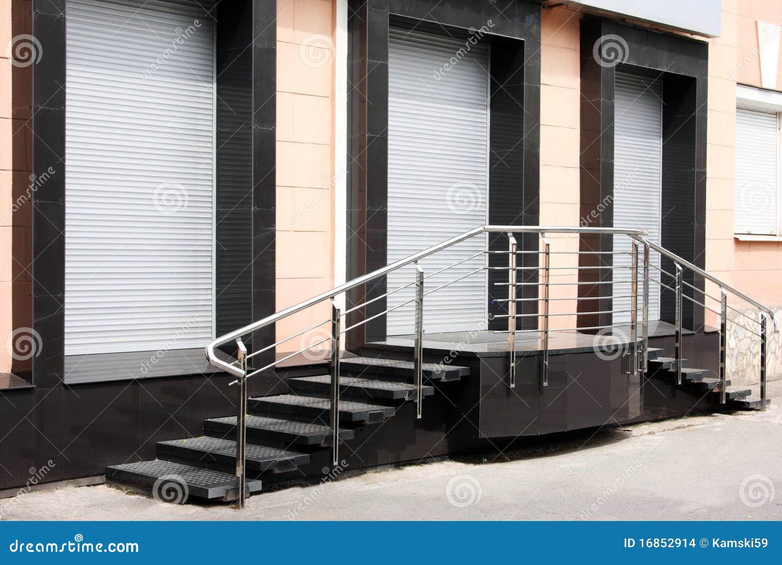 A loja fechada