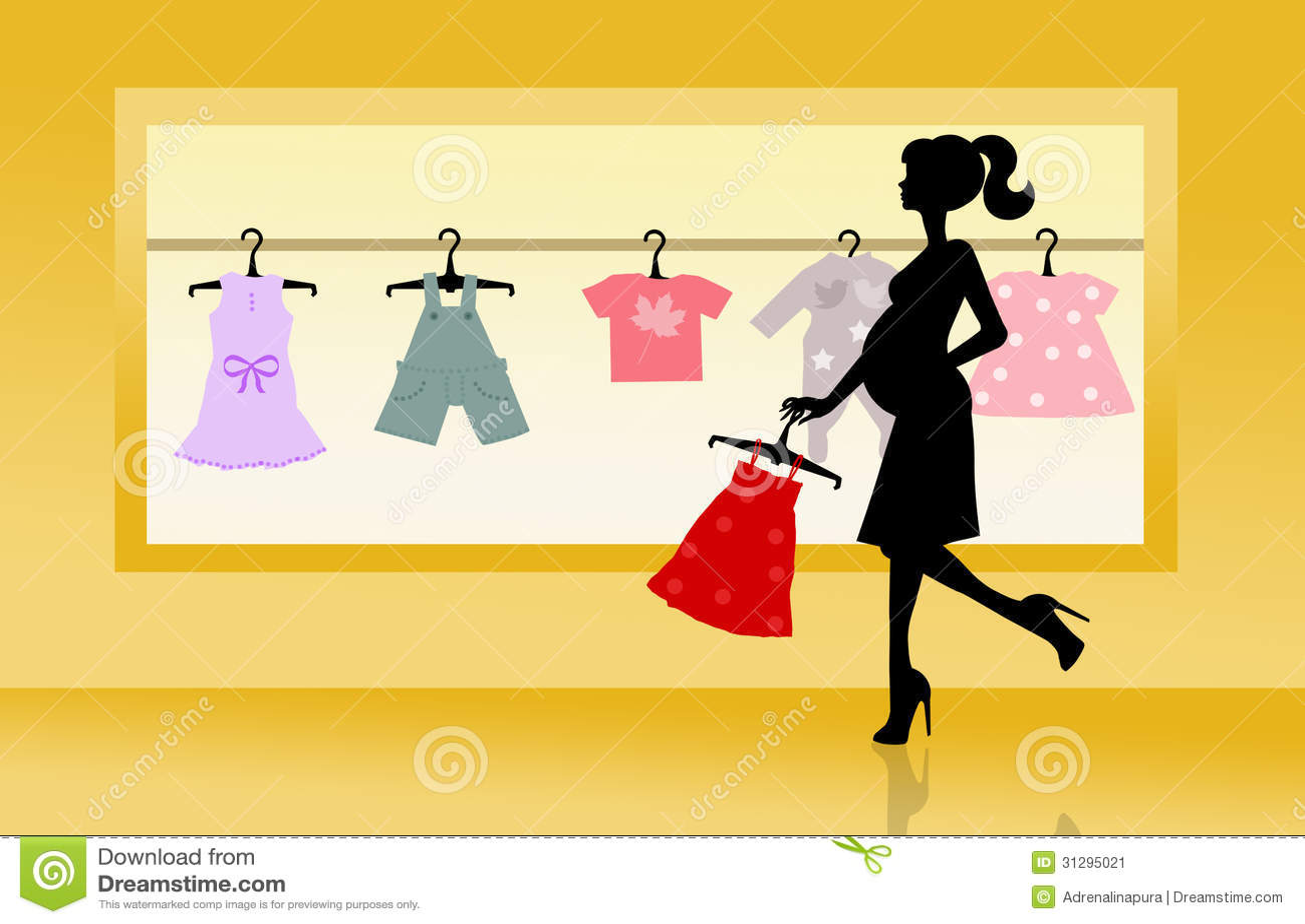 Loja para a roupa do bebê