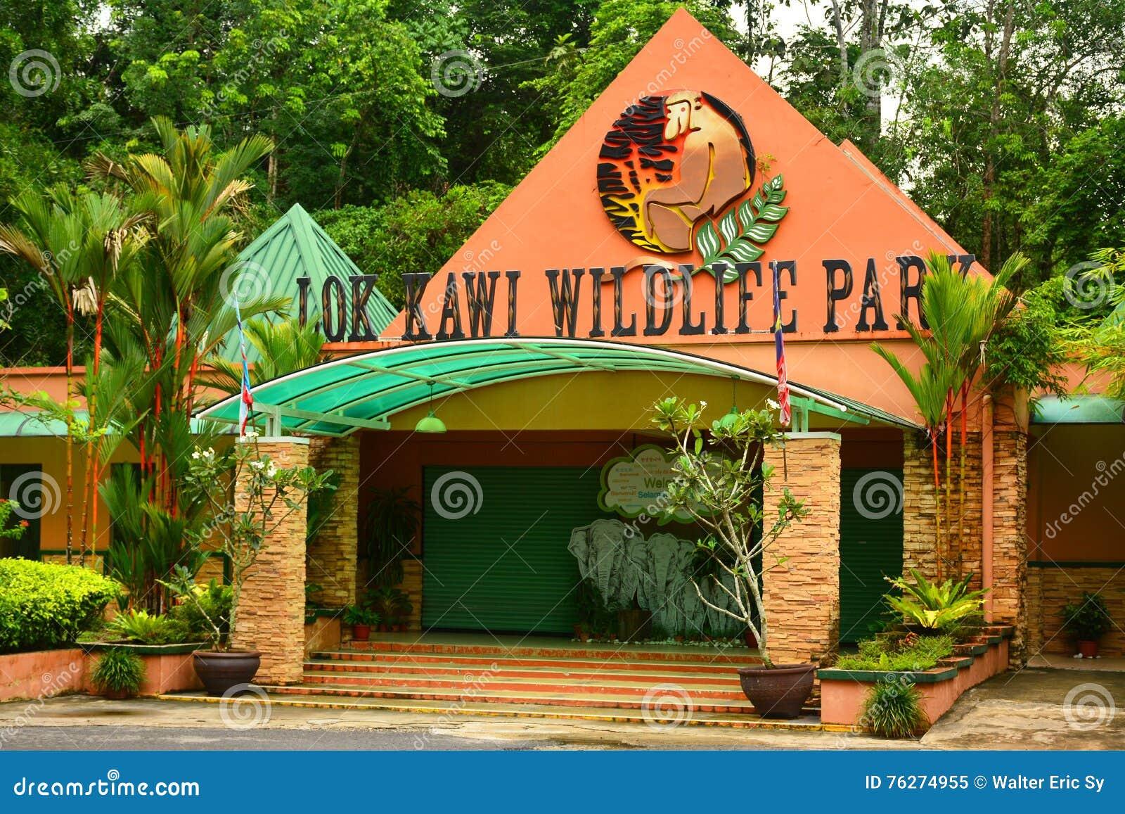 Loka Kawi przyrody parka fasada w Sabah, Malezja
