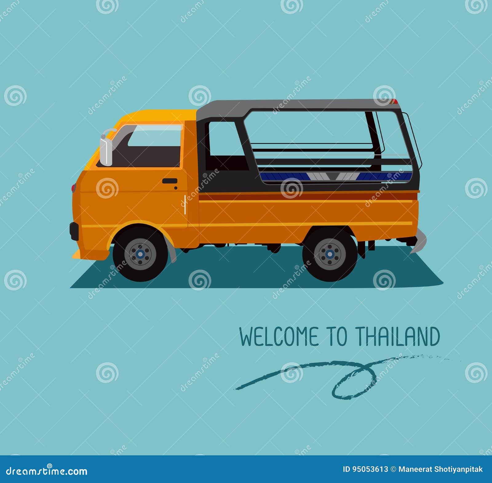 Lokaal een openbaar vervoer in Thailand