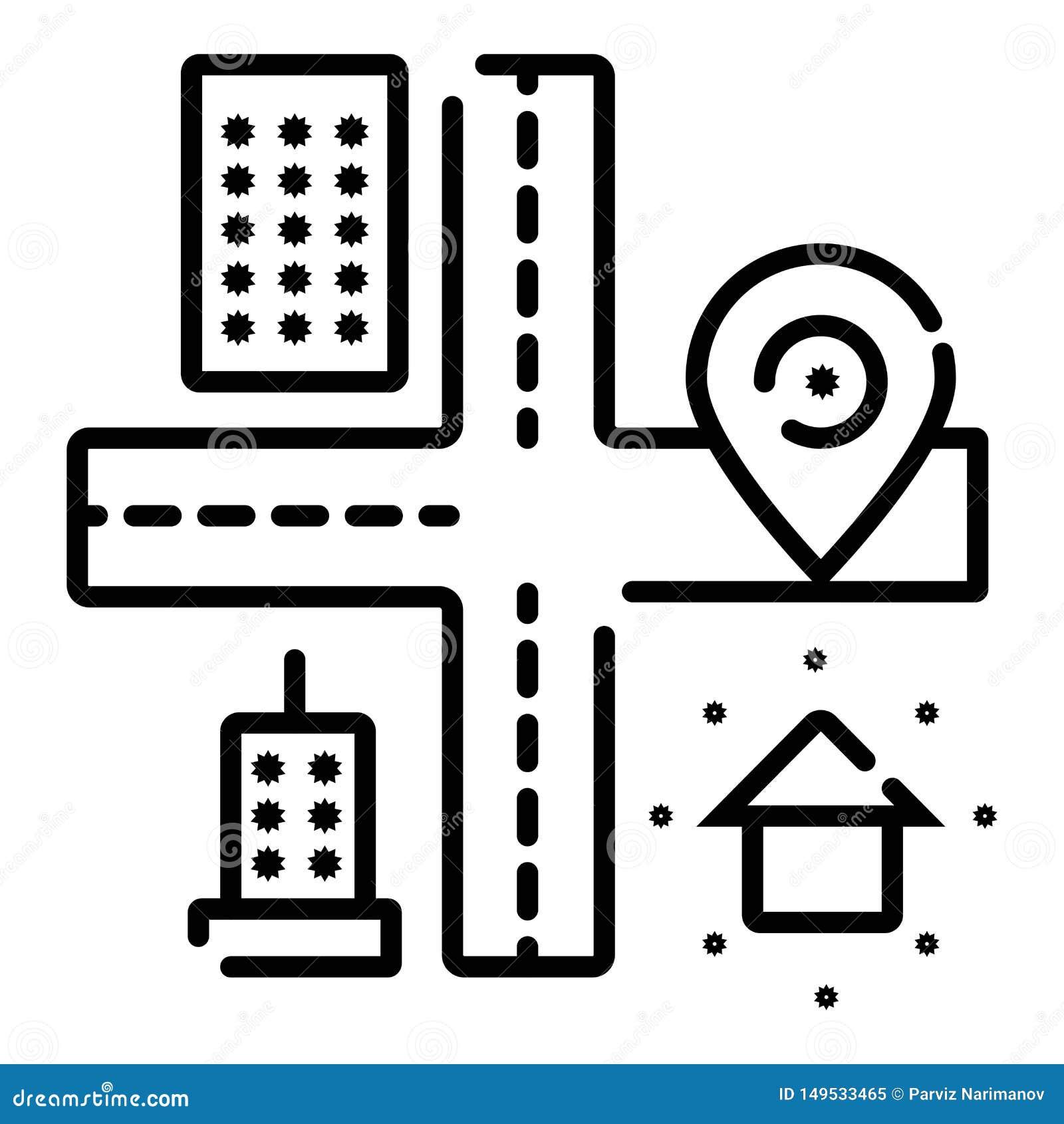 Lokacji ikona, mapy ikony wektor