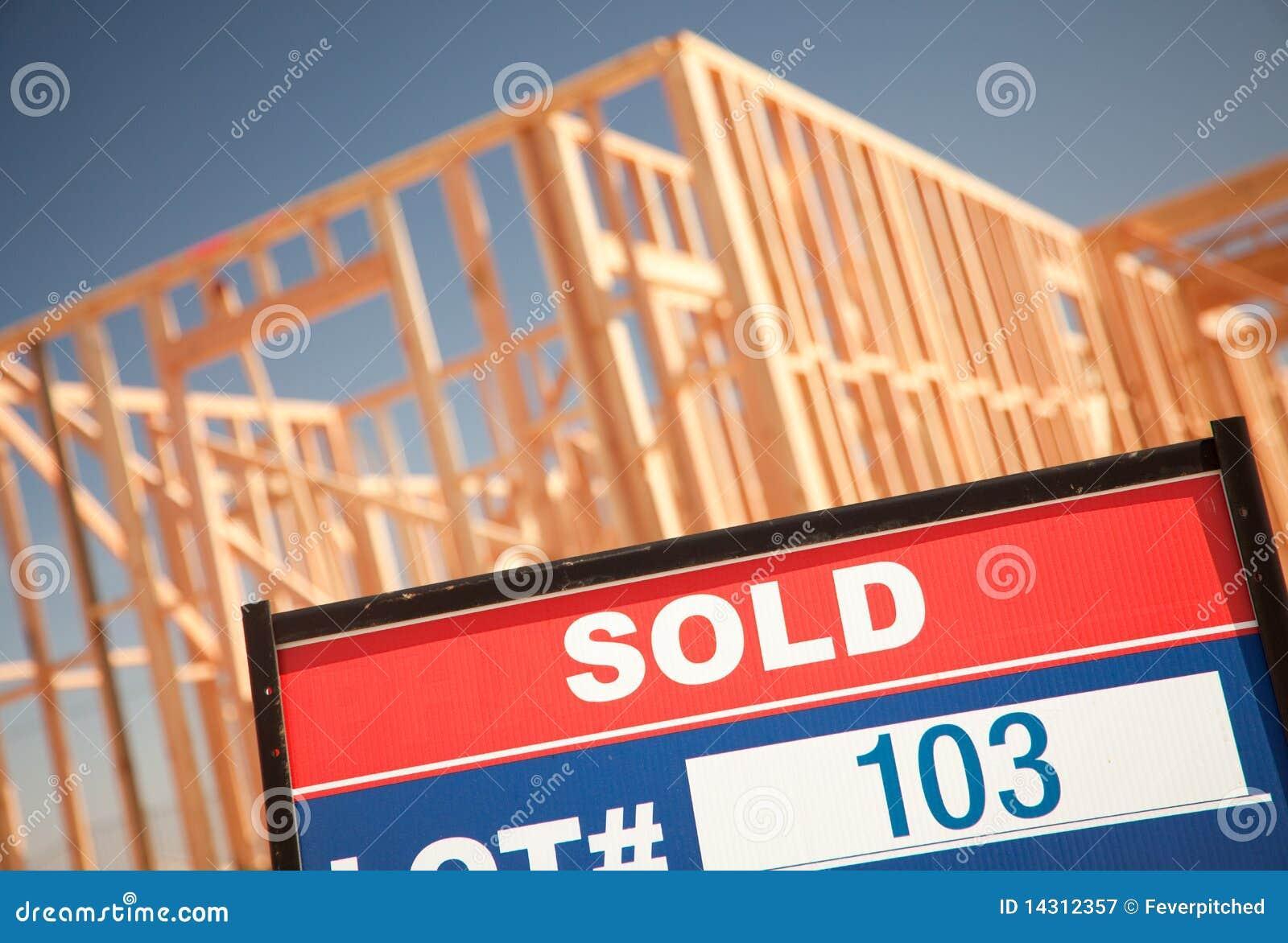 Lokal för tecken för home lott för konstruktion såld ny