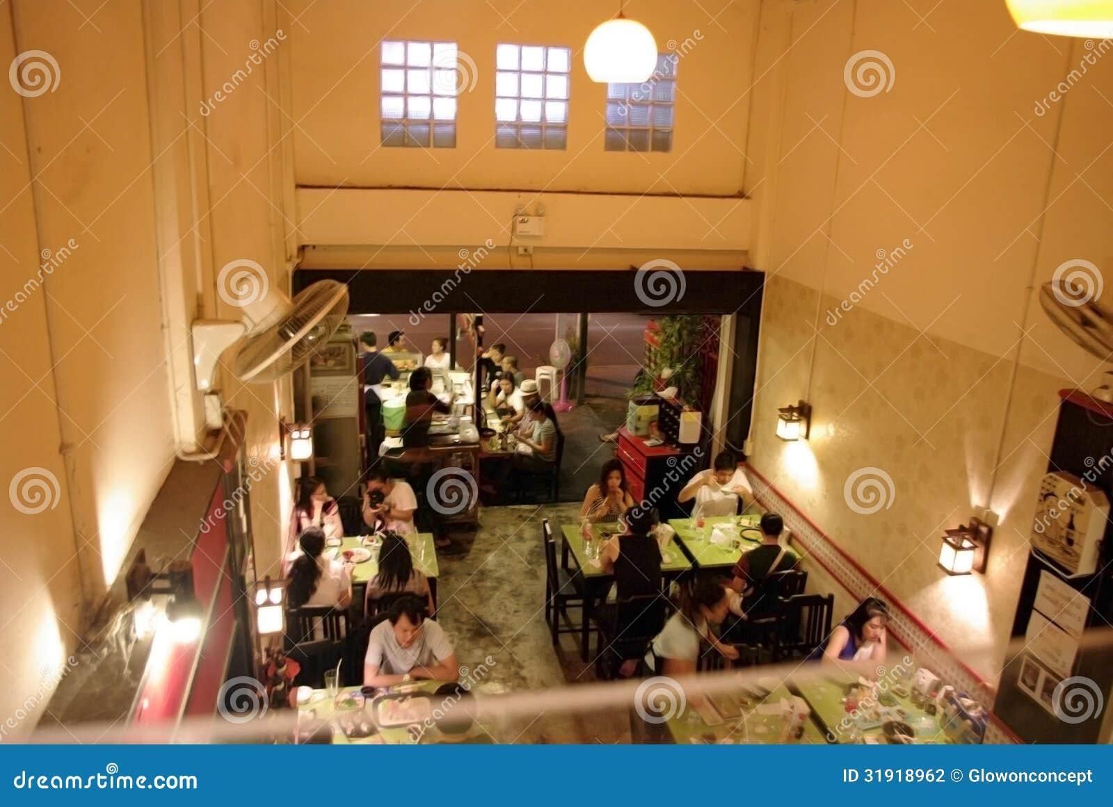 Lokal restaurang i Asien
