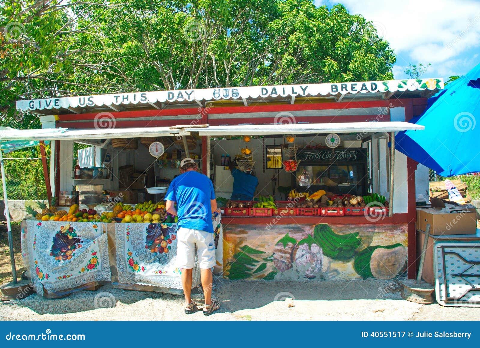 Lokale Caraïbische Markt