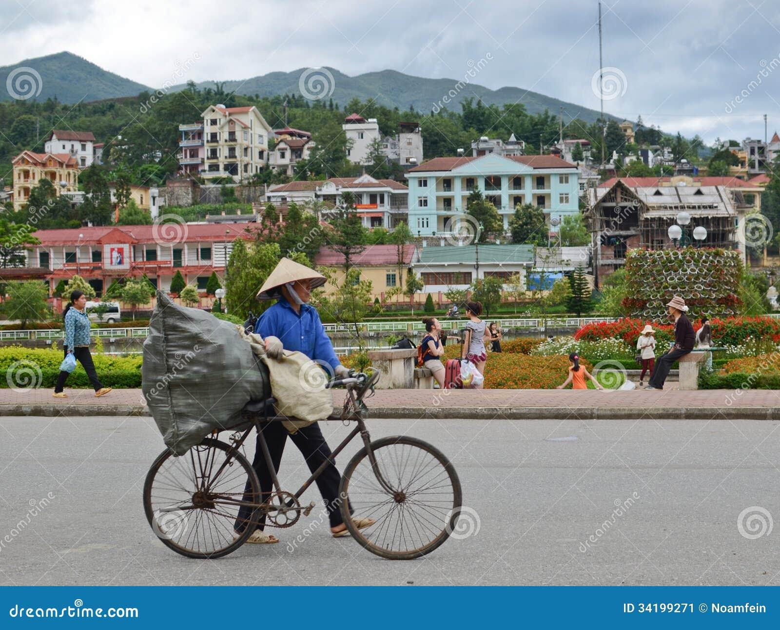 Lokale Leute in Sapa, Vietnam