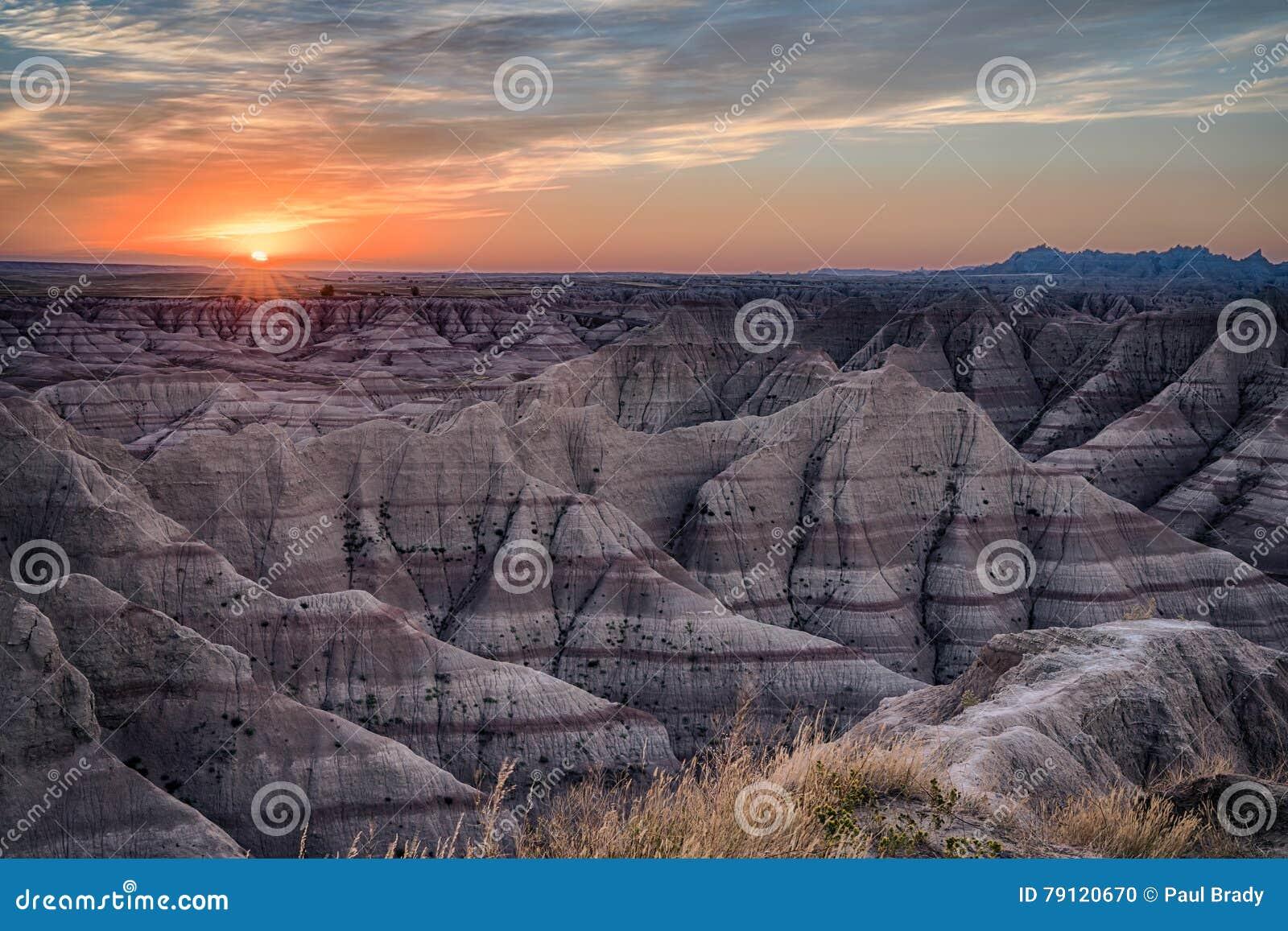 Lokaliserat i sydvästliga South Dakota, Badlandsnationalpark