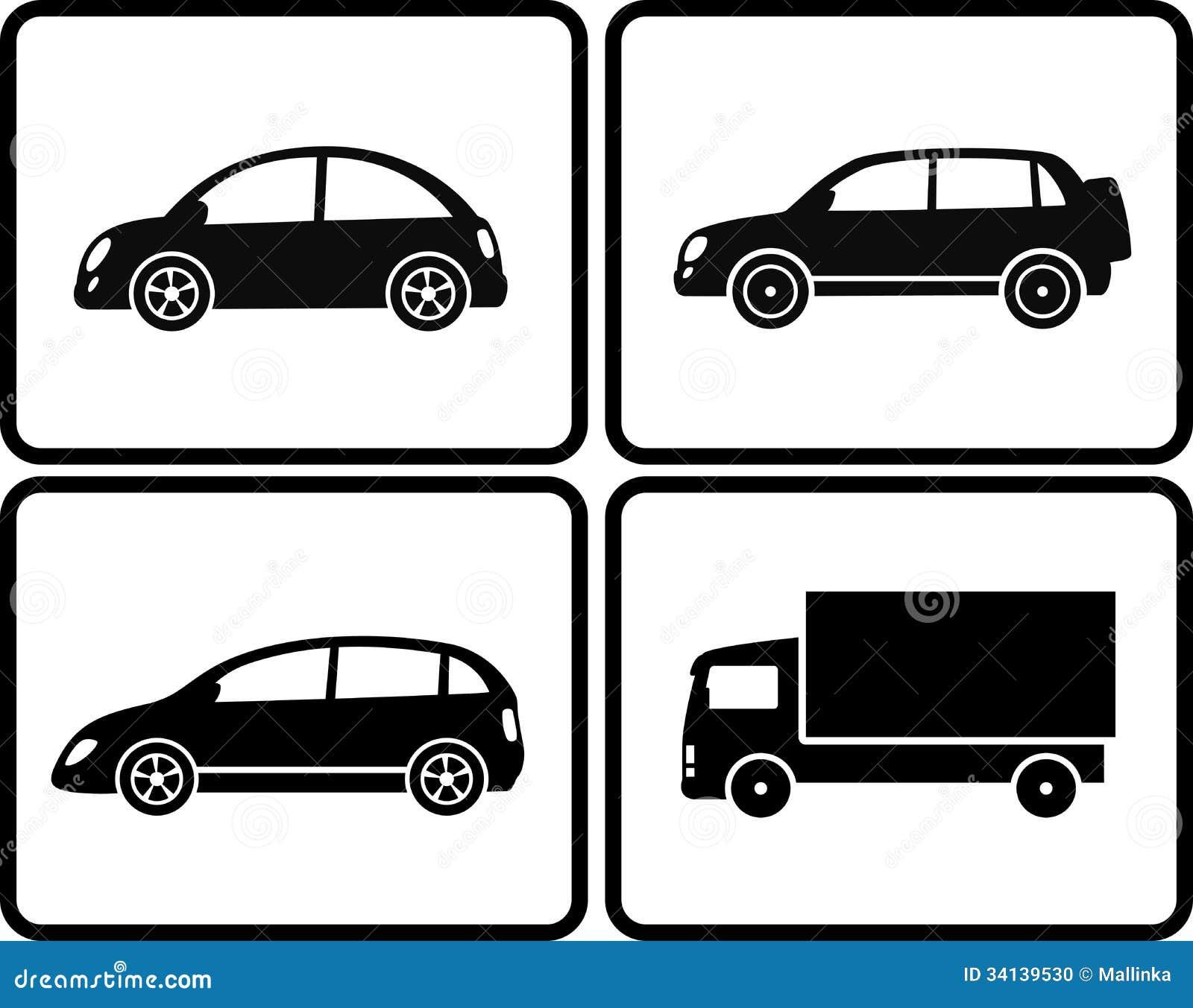 Lokalisierte Autos Im Rahmen Vektor Abbildung - Illustration von ...