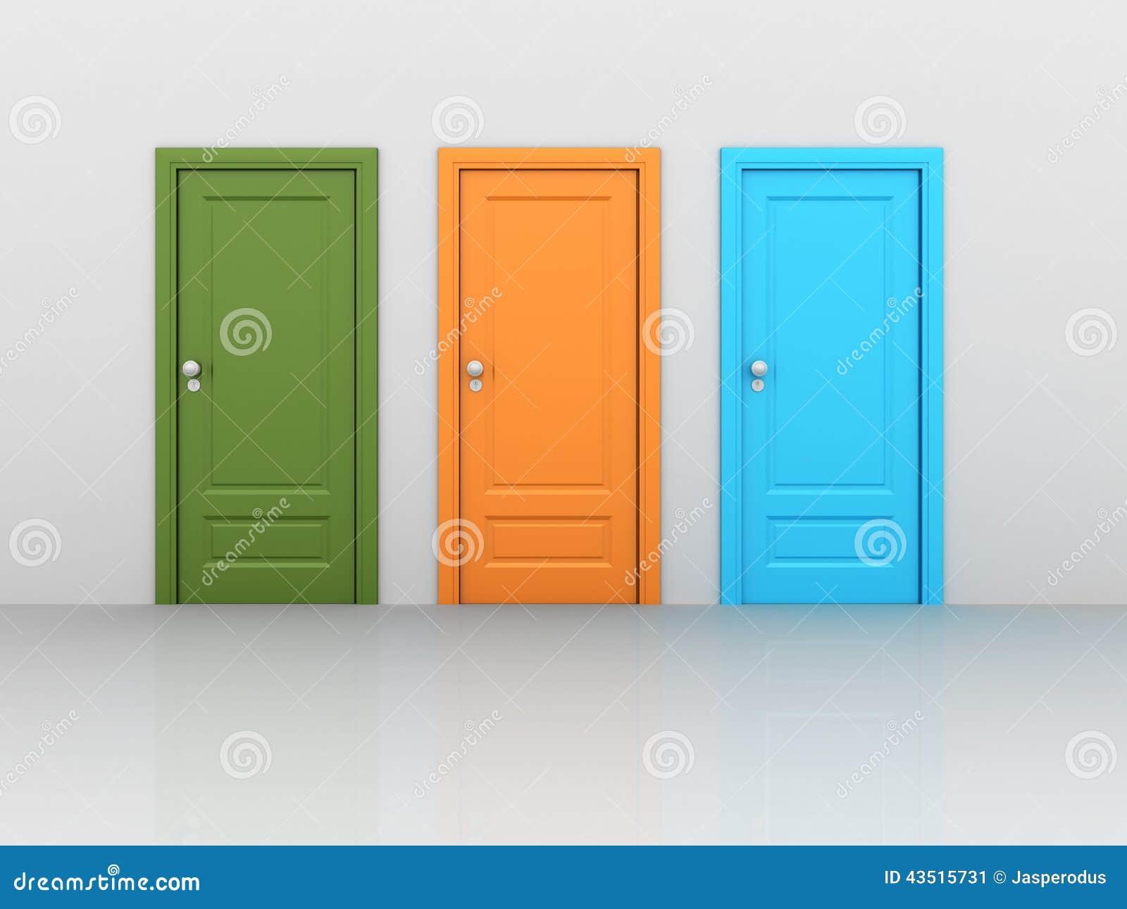 Lokalisierte geschlossene Türen
