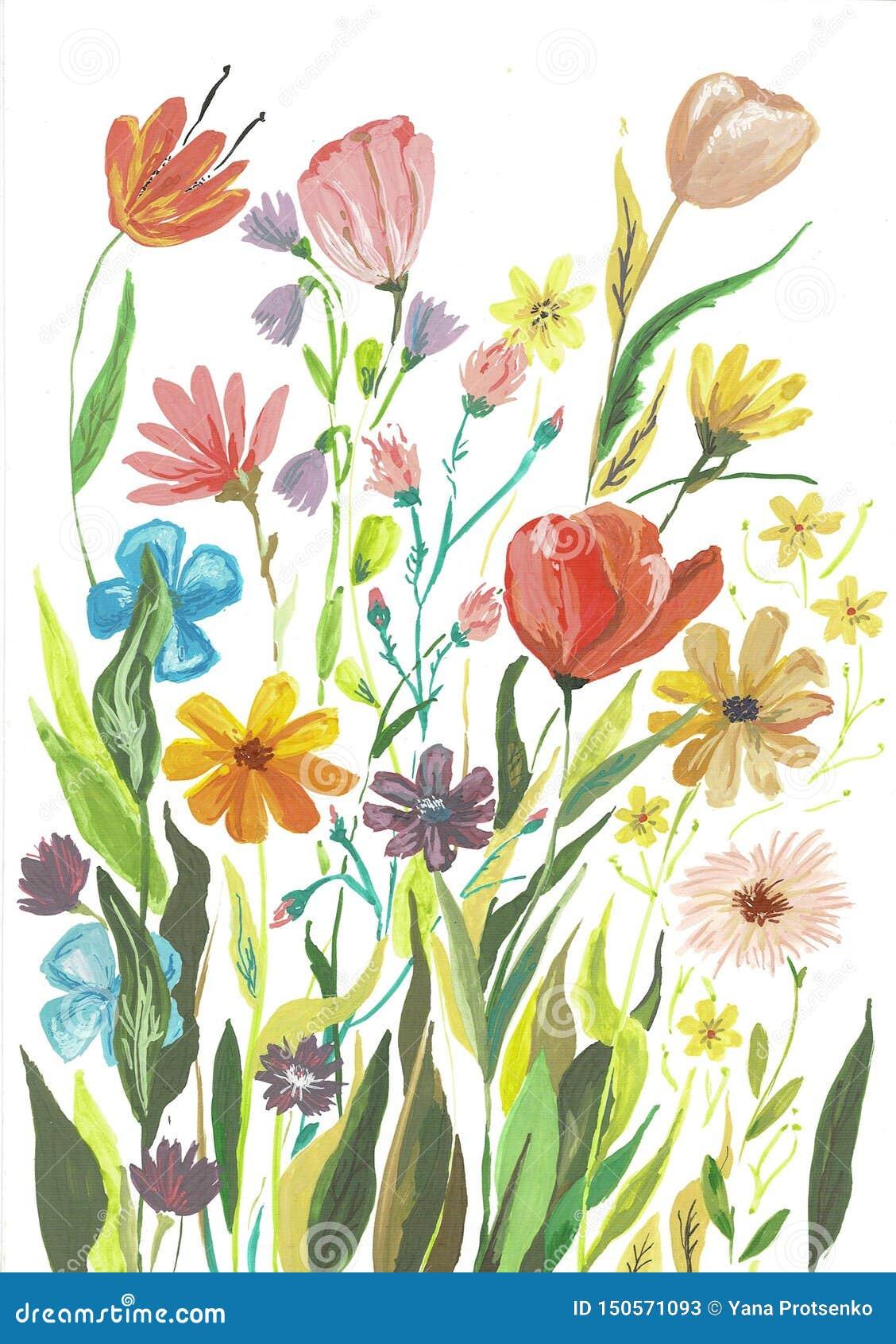 Lokalisierten rote magentarote weiße rosa Blumenstrauß-Blumen und Federn Aquarell Boho Burgunder